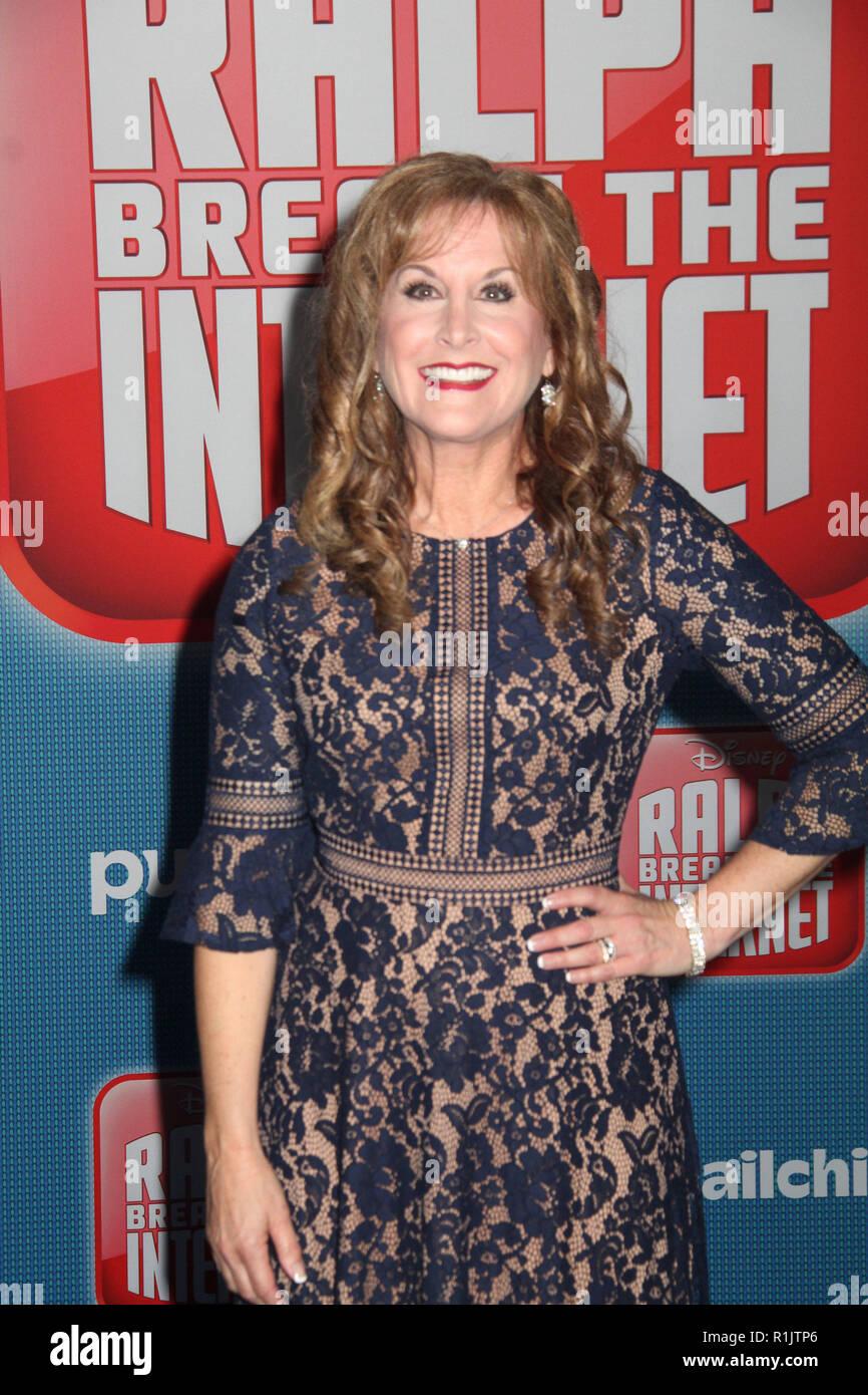Jodi Benson  11/05/2018 The World Premiere of 'Ralph Breaks the Internet' held at El Capitan Theatre in Los Angeles, CA  Photo: Cronos/Hollywood News - Stock Image