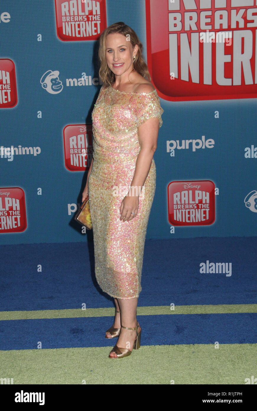 Pamela Ribon  11/05/2018 The World Premiere of 'Ralph Breaks the Internet' held at El Capitan Theatre in Los Angeles, CA   Photo: Cronos/Hollywood News - Stock Image