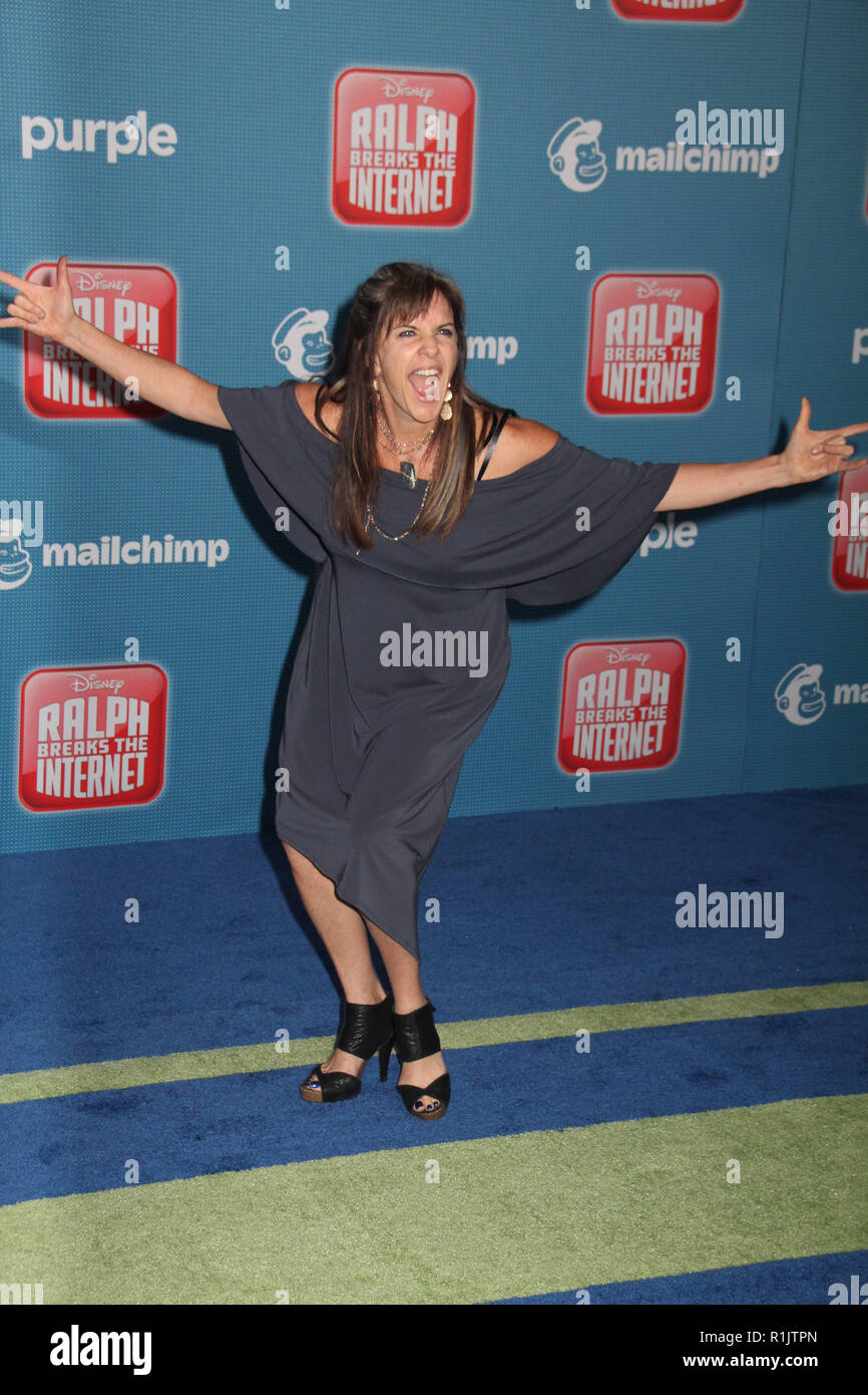 Jennifer Hale  11/05/2018 The World Premiere of 'Ralph Breaks the Internet' held at El Capitan Theatre in Los Angeles, CA   Photo: Cronos/Hollywood News - Stock Image
