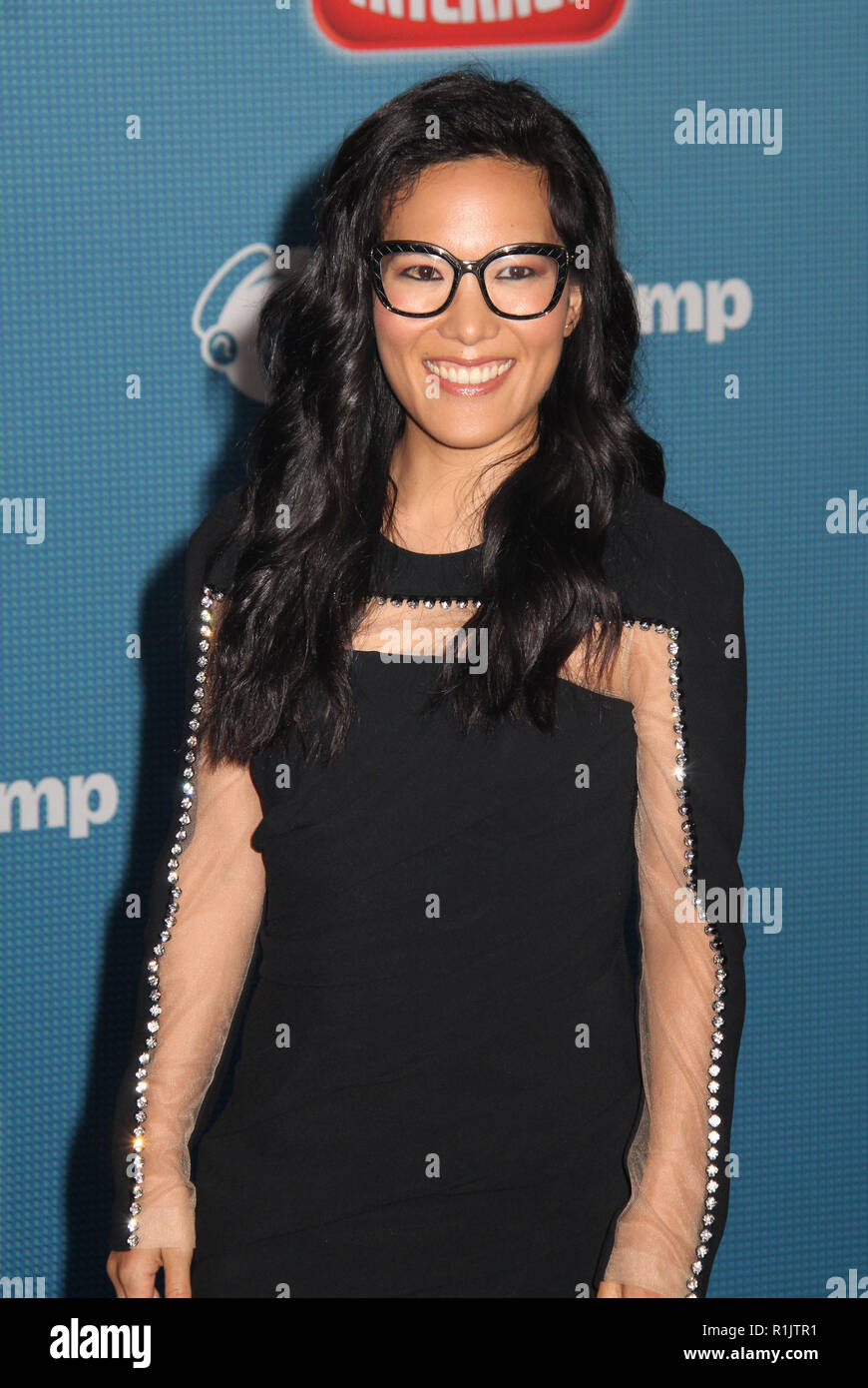 Ali Wong  11/05/2018 The World Premiere of 'Ralph Breaks the Internet' held at El Capitan Theatre in Los Angeles, CA   Photo: Cronos/Hollywood News - Stock Image