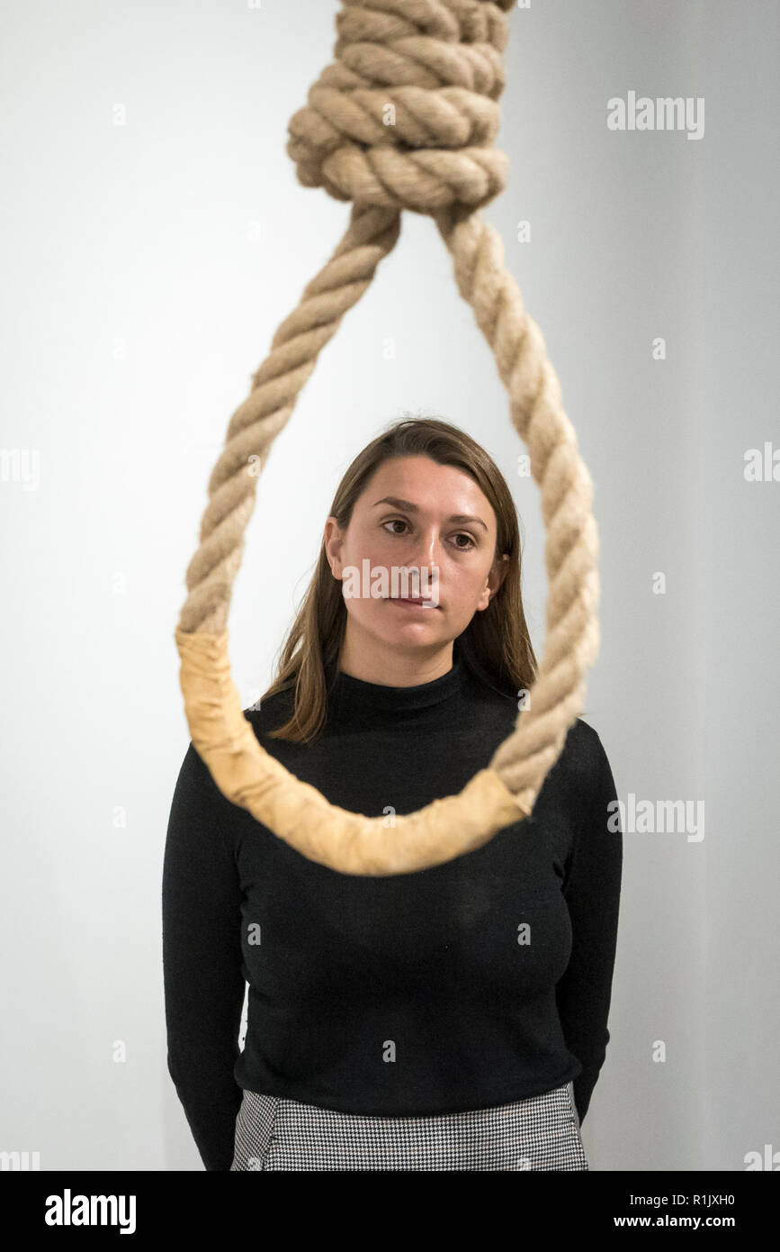 Mature women noosed for hanging