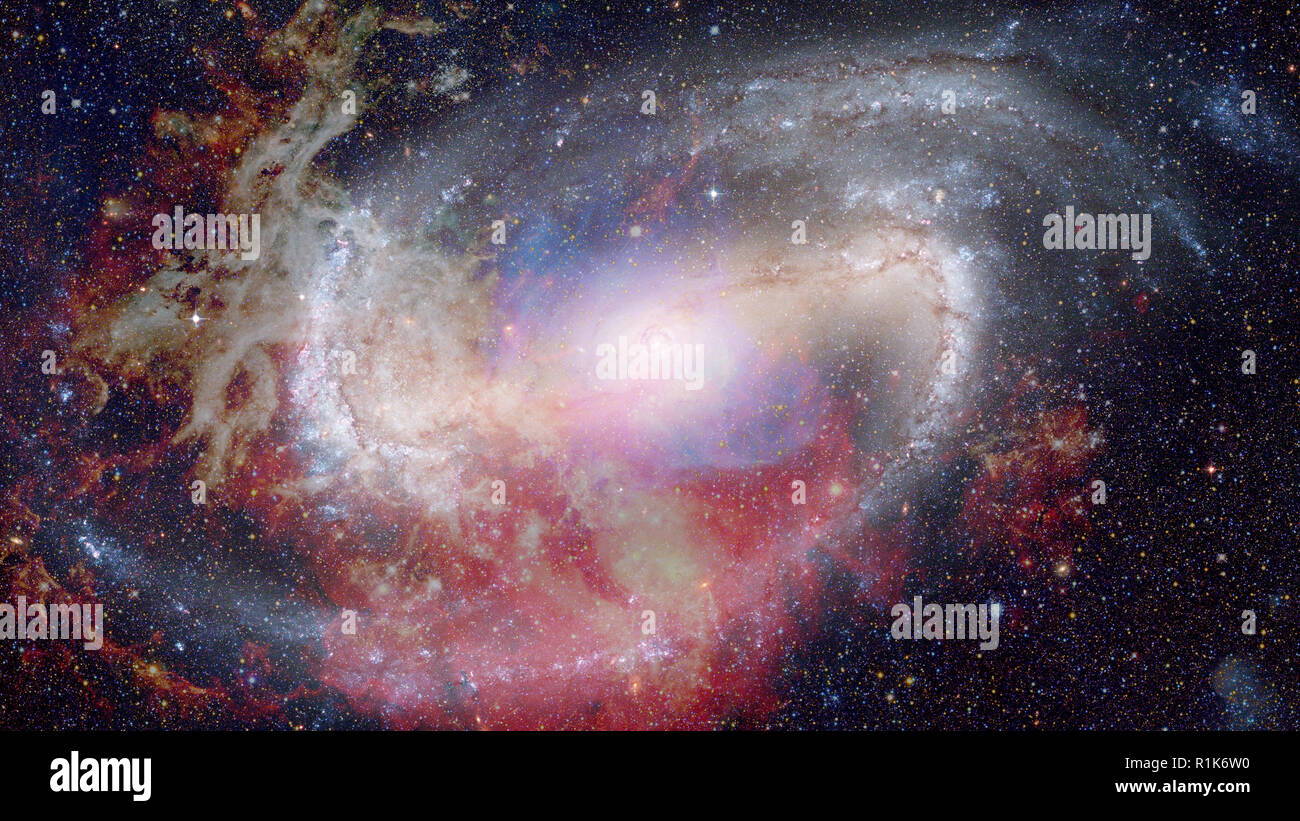Nebula in outer space. Science background. Elements of this image furnished by NASA. - Stock Image