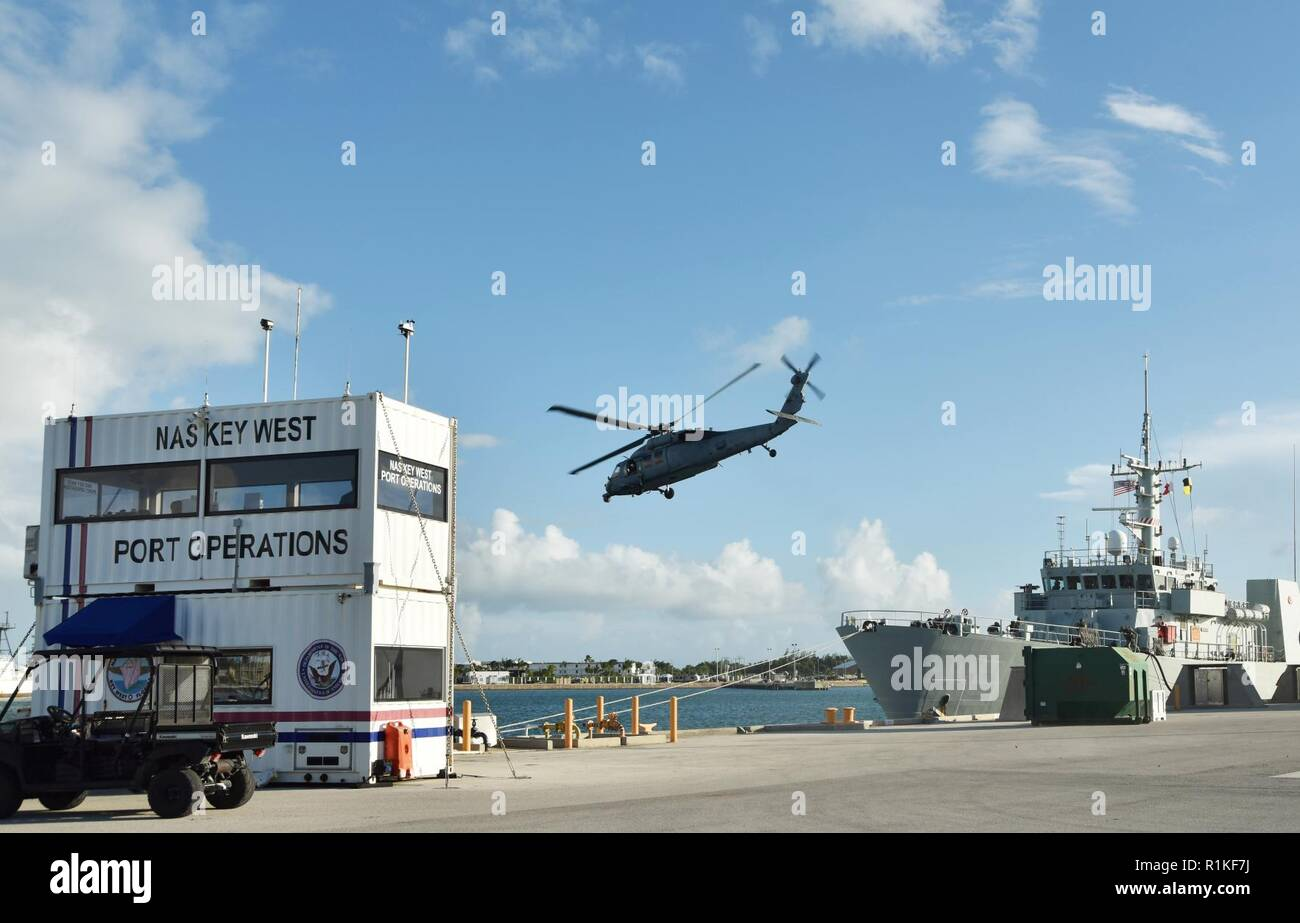 Key West Florida Oct 15 2018 Helicopter Sea Combat Squadron Hsc