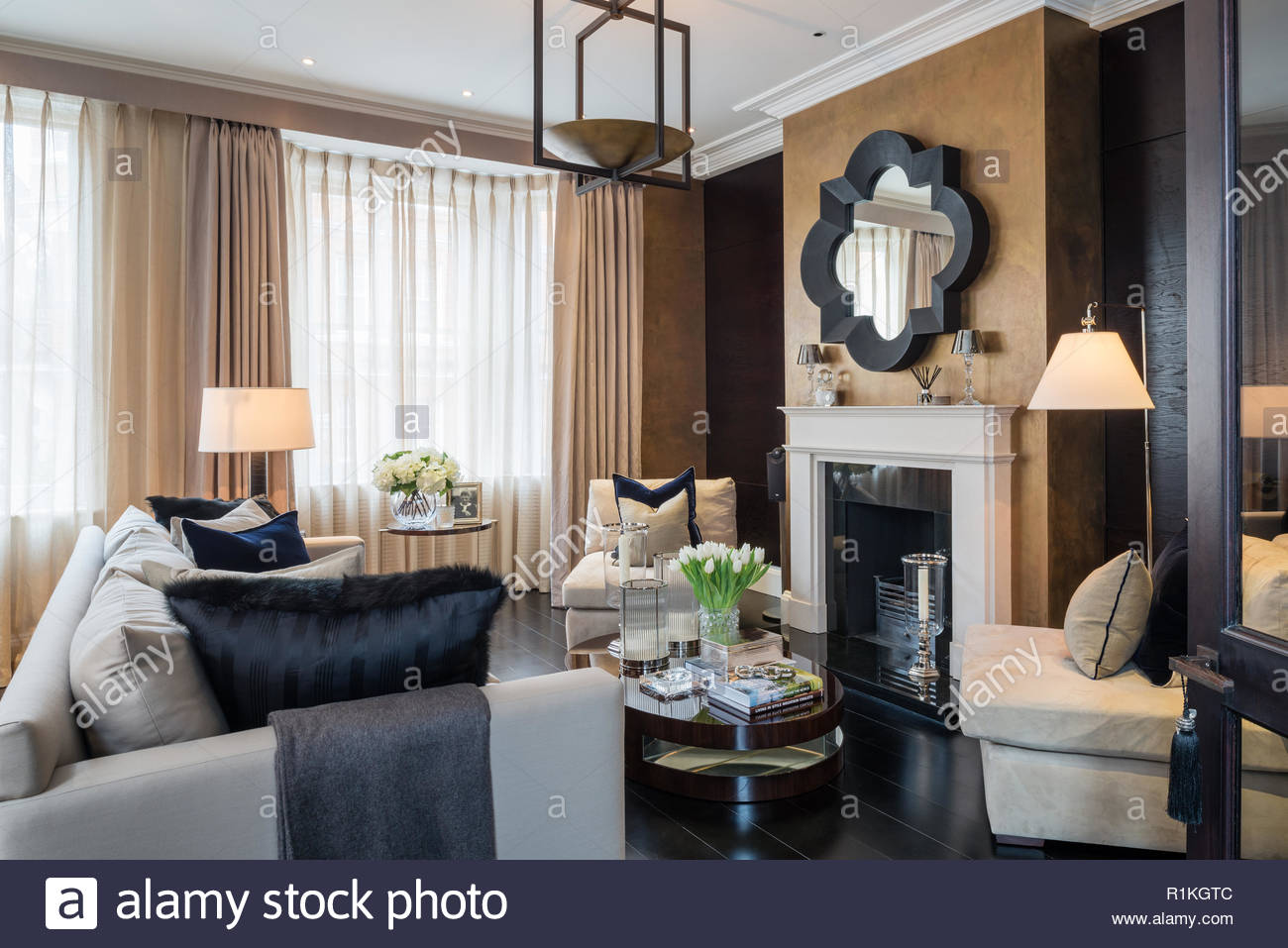 masculine window treatments masculine style living room with fireplace stock image house room curtains closed photos