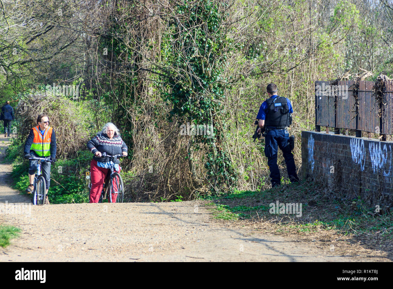 Police Bicycles Stock Photos & Police Bicycles Stock Images