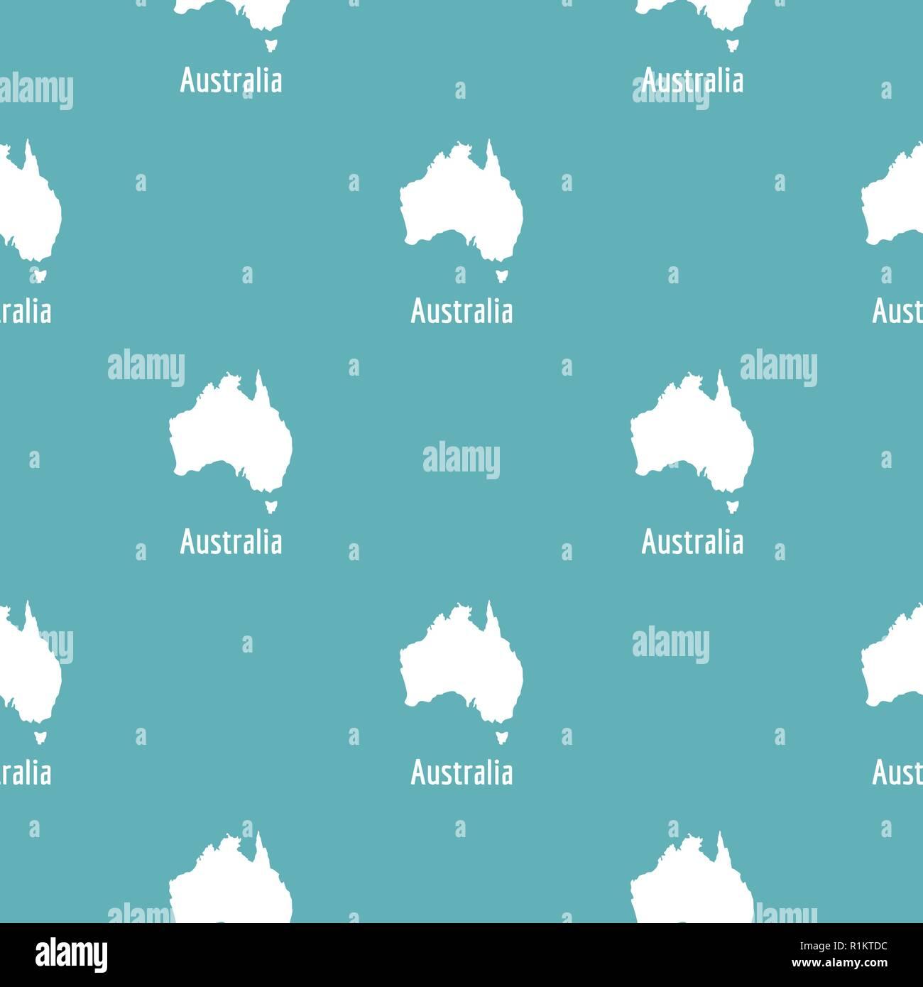 Australia Map Simple.Australia Map In Black Simple Illustration Of Australia Map Vector