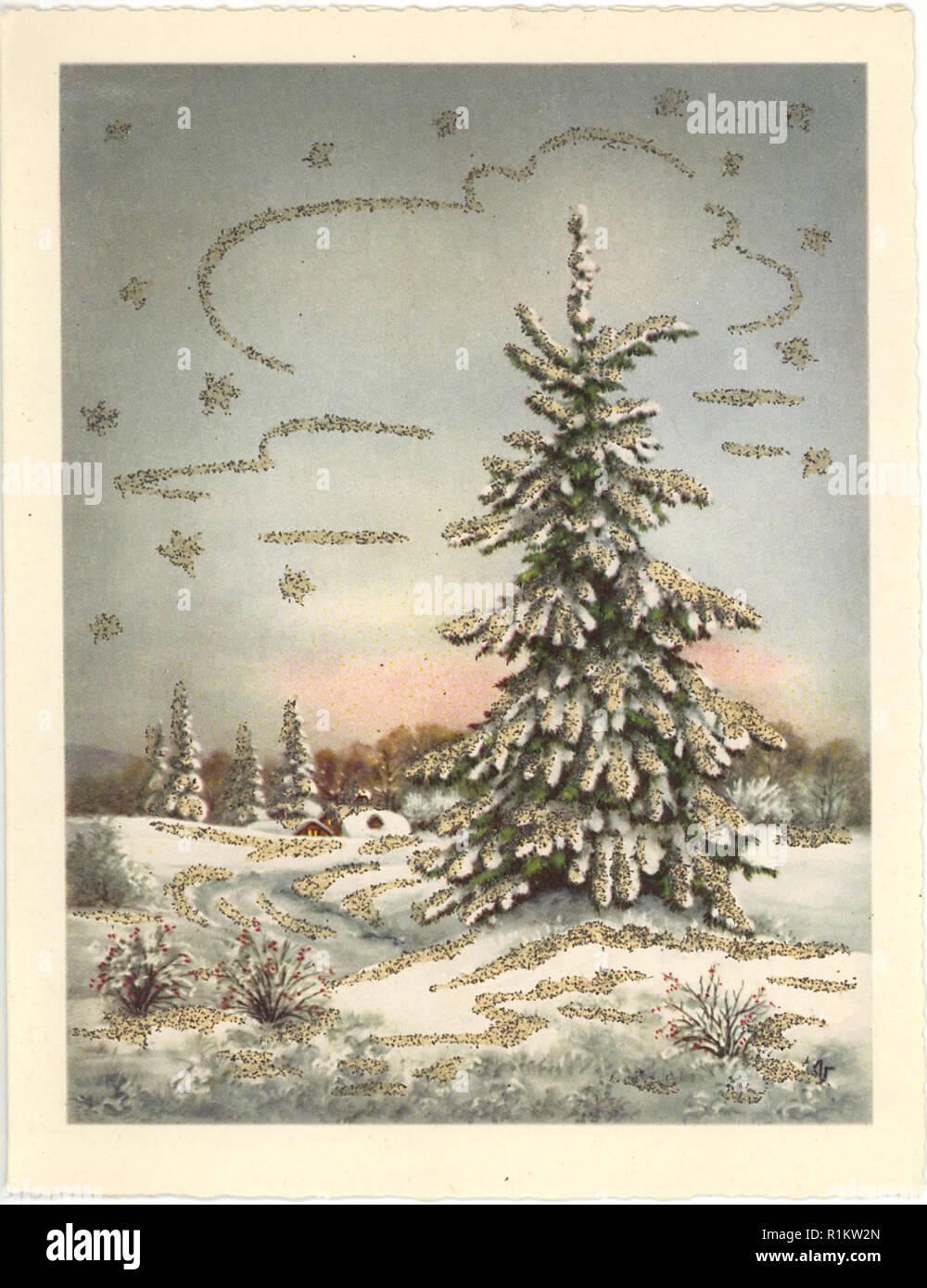 foto de vintage christmas card illustrated design Stock Photo: 224786205 ...