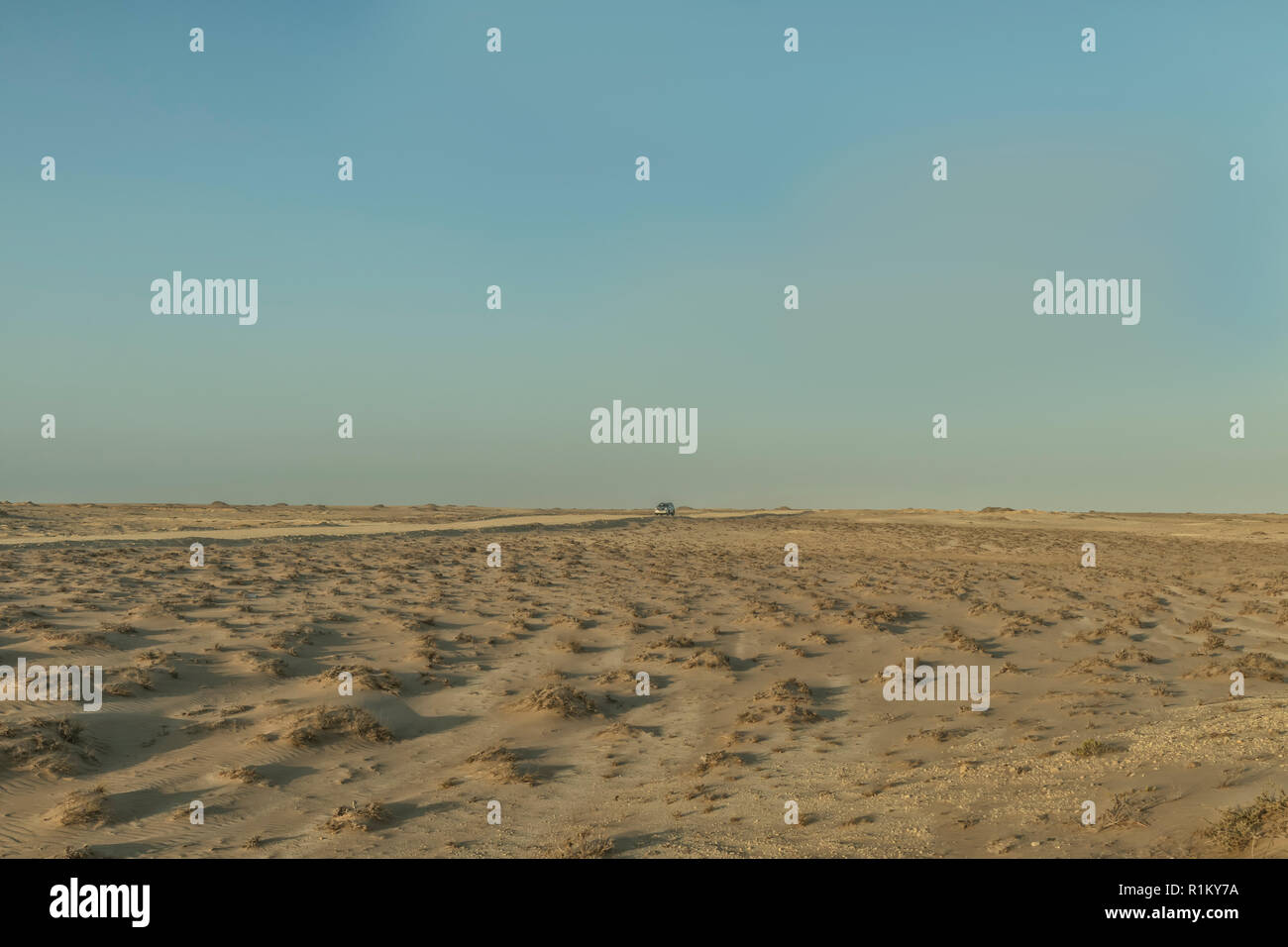 4x4 car on a desert road. Namibe. Angola. - Stock Image