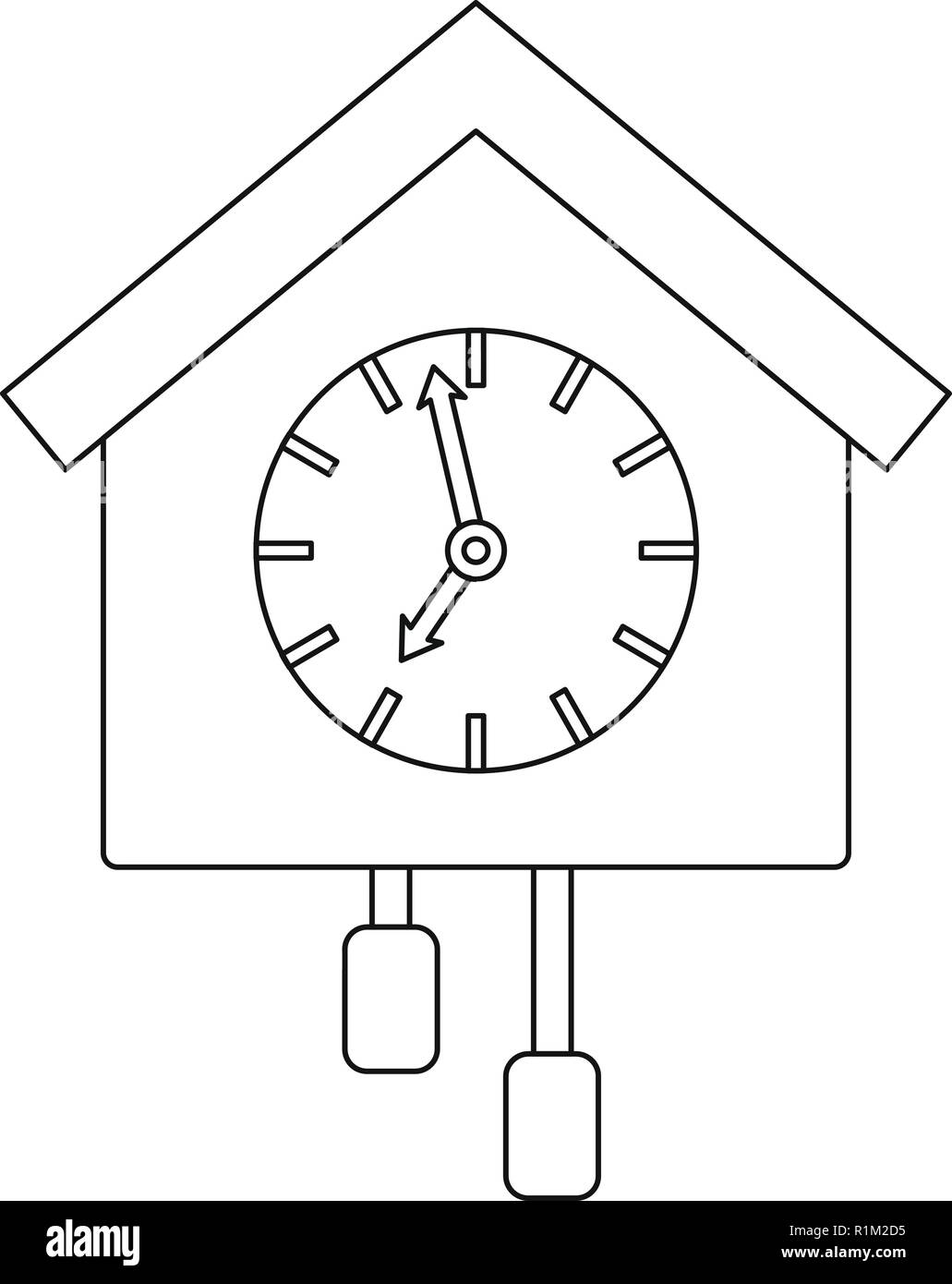 Pendulum Clock Stock Vector Images Alamy Grandfather Diagram Cuckoo Icon Outline Illustration Of For Web
