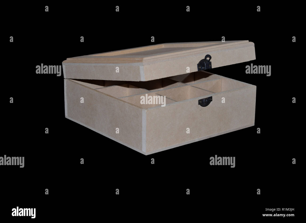 wooden box with spacers - Stock Image