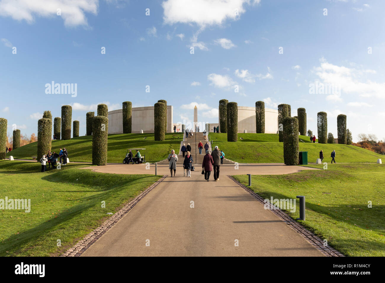 The Armed Forces Memorial, National Memorial Arboretum, Airewas, Staffordshire, England - Stock Image