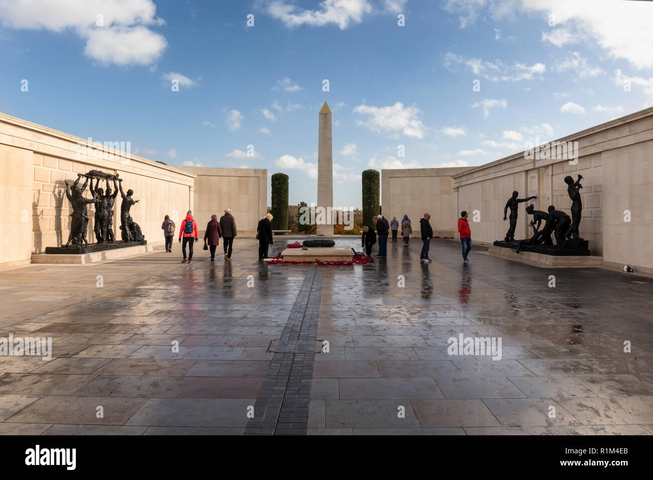 The Armed Forces Memorial - National Memorial Arboretum, Airewas, Staffordshire, England - Stock Image