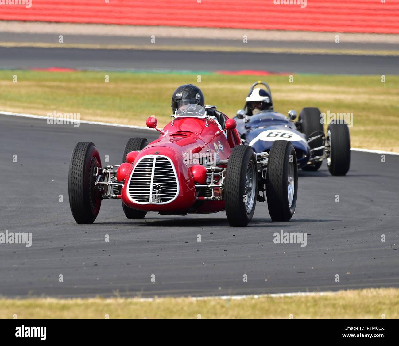 Julia de Baldanza, Maserati A6GCM, Adrian Flux Trophy for Pre '66 Grand Prix Cars, HGPCA, Silverstone Classic, July 2018, Silverstone, Chris McEvoy, c - Stock Image
