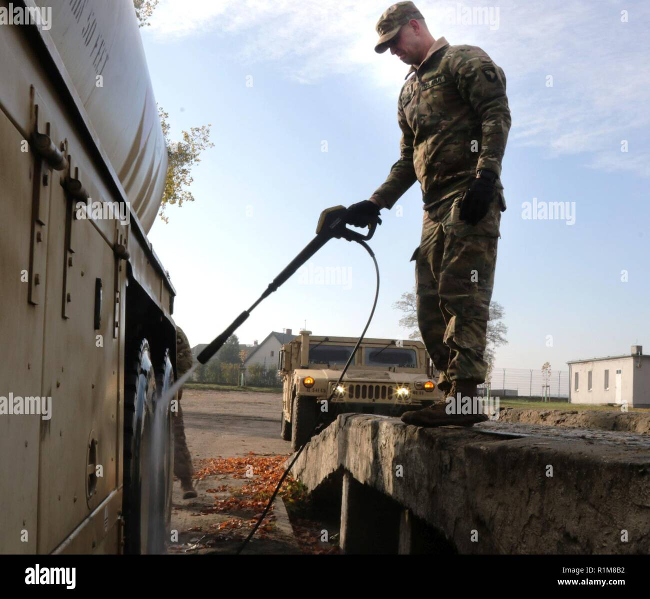 Spc  Lewis Matthinson, a motor transport operator with the