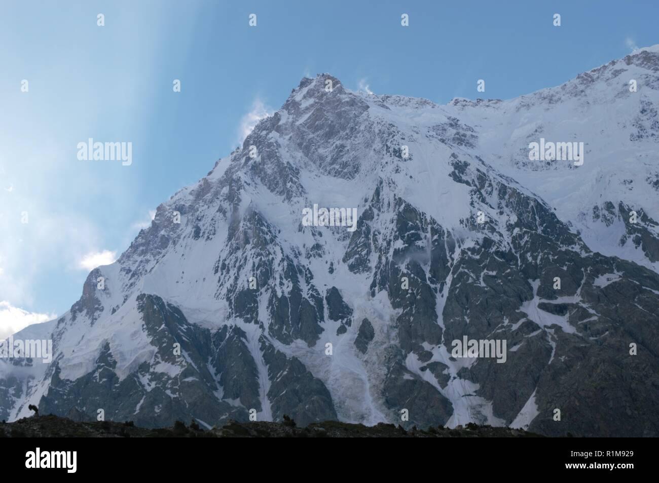 Nanga Parbat -- Rupal Valley Face Pakistan Stock Photo