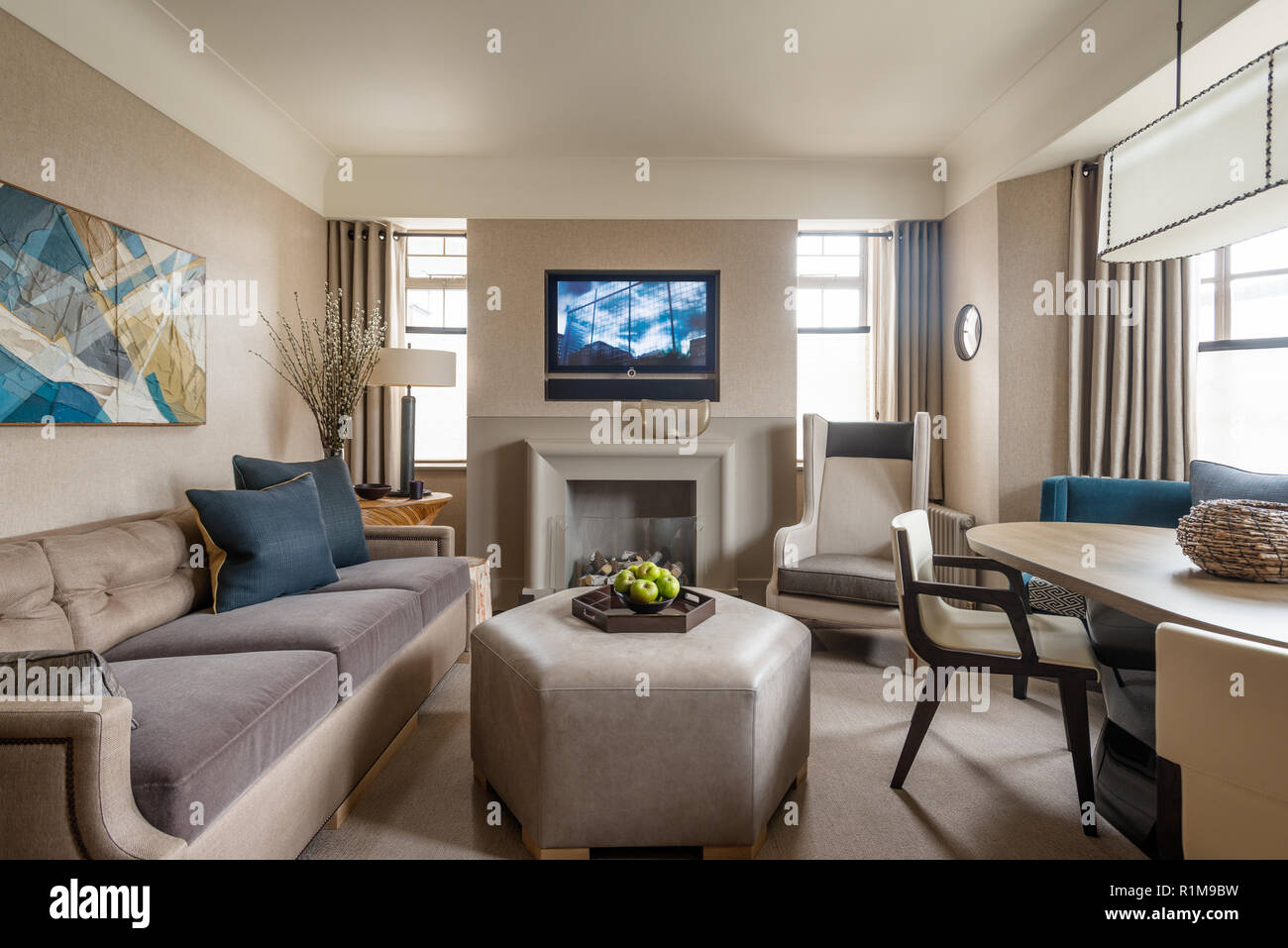 Beige Carpet Living Room High Resolution Stock Photography And Images Alamy