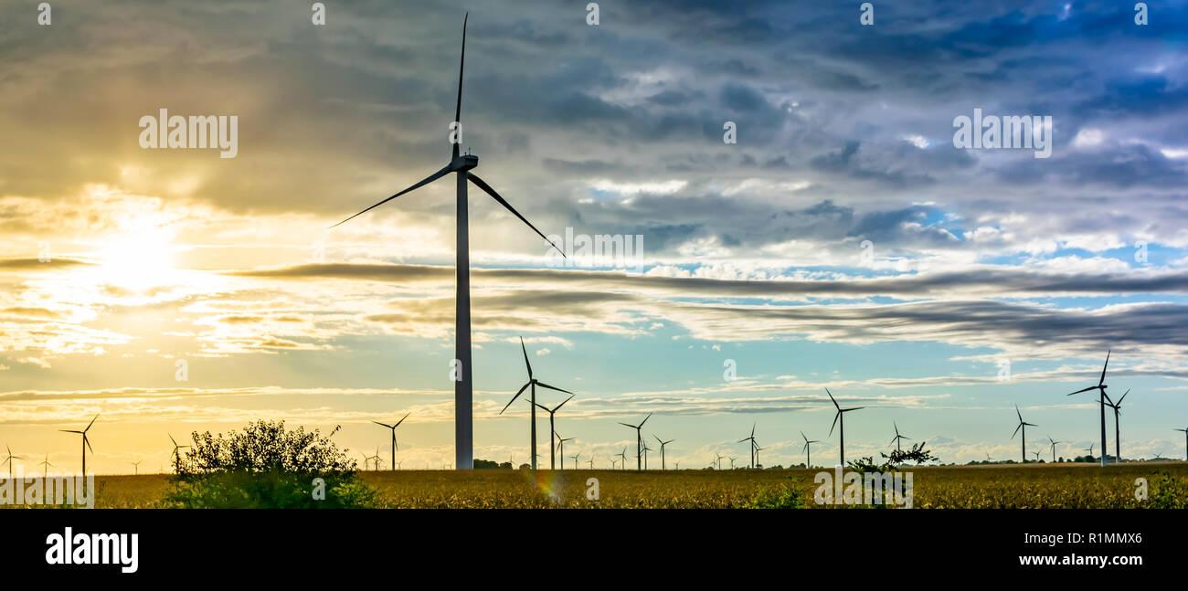 Wind Turbine in Northwest Indiana - Stock Image