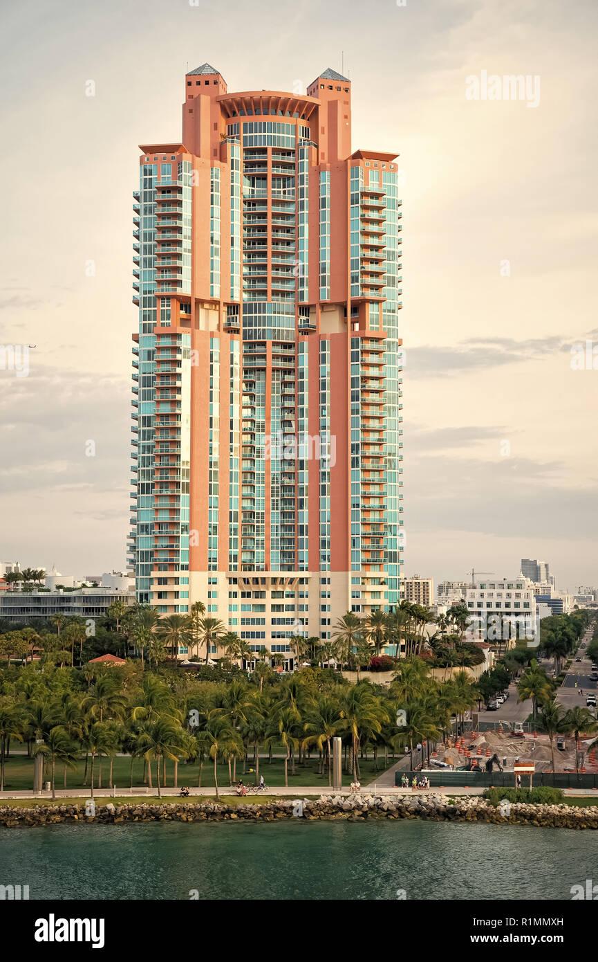 Miami Beach Or South Beach High Rise Apartment Buildings Modern