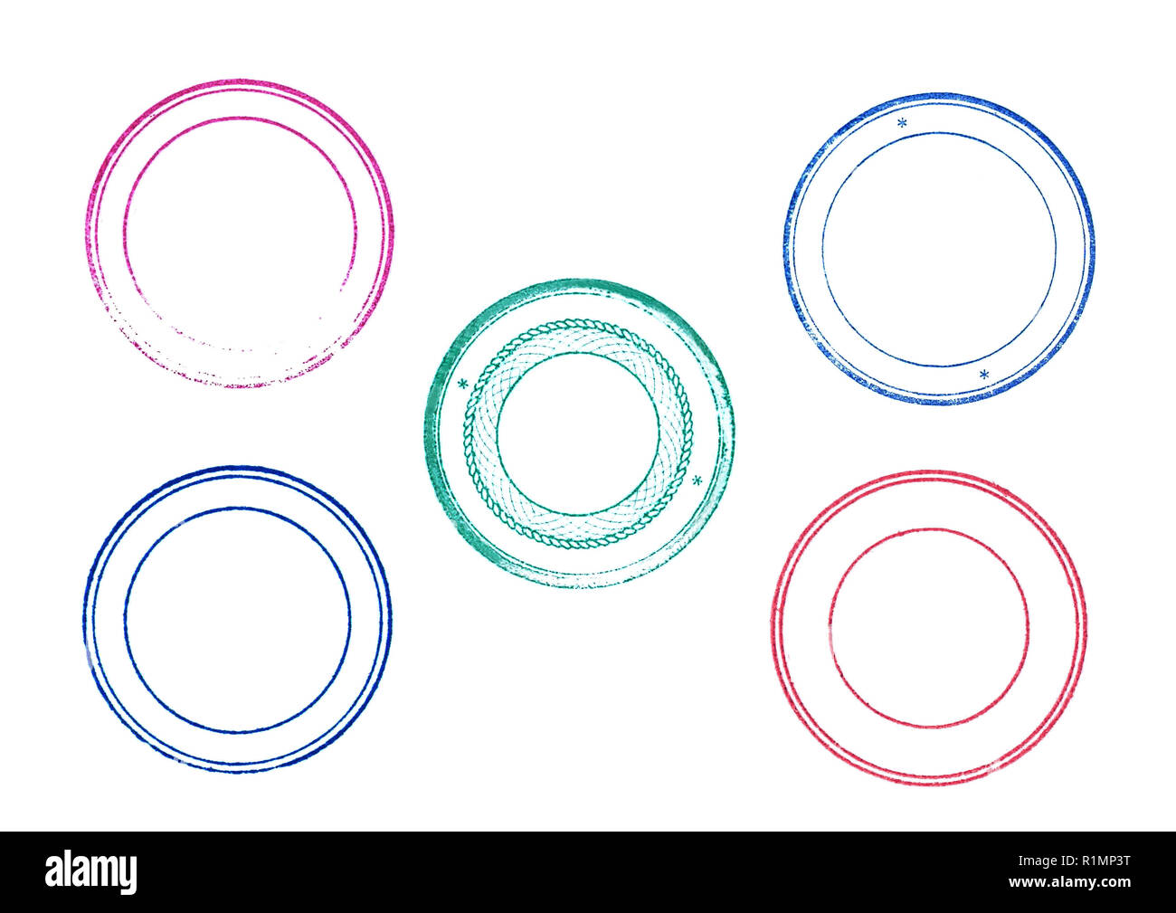 round stamp cut out stock images pictures alamy