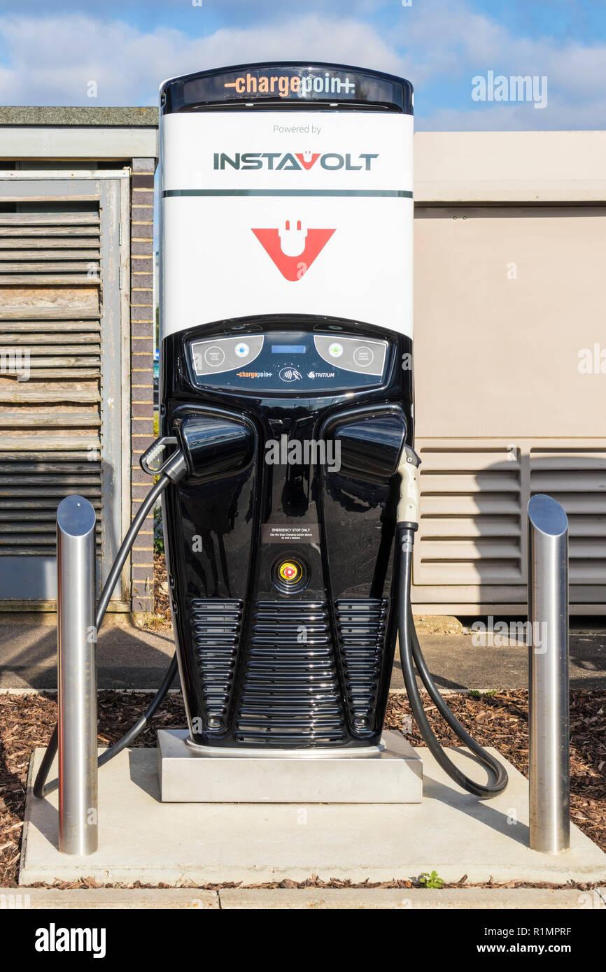 Instavolt car charger Instavolt car charging unit uk - Stock Image