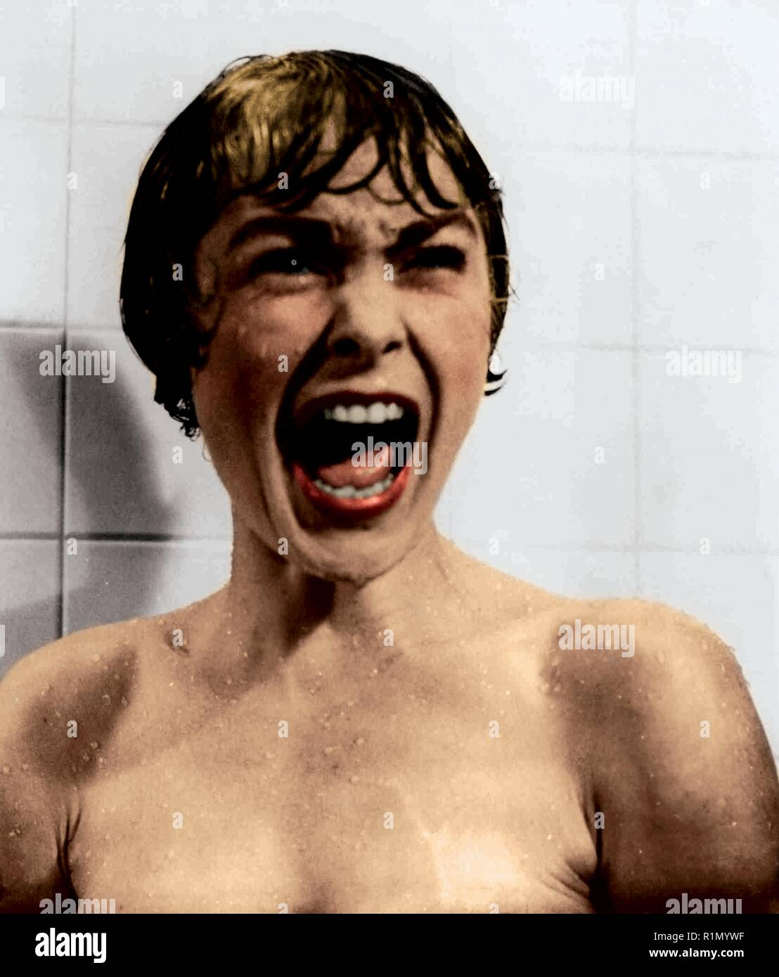 Janet Leigh in her most lasting recognition as the doomed Marion Crane in Alfred Hitchcock's Psycho (1960), which earned her a Golden Globe Award for Best Supporting Actress Hollywood Photo Archive / MediaPunch - Stock Image