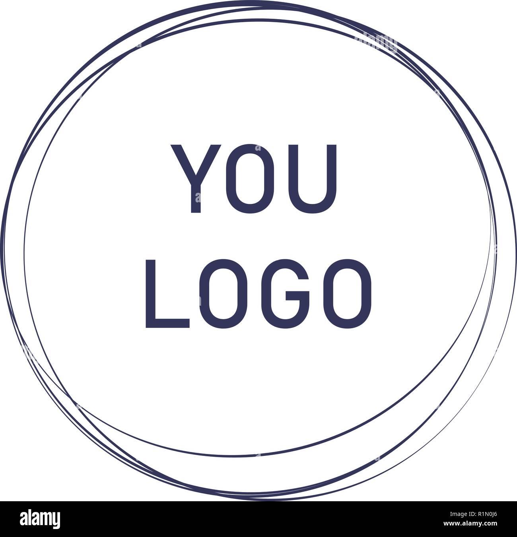 Label, design element, frame. elegant logo circles. fashion logo design. abstract circle line shape illustration. Hand drawn circle shape. - Stock Vector