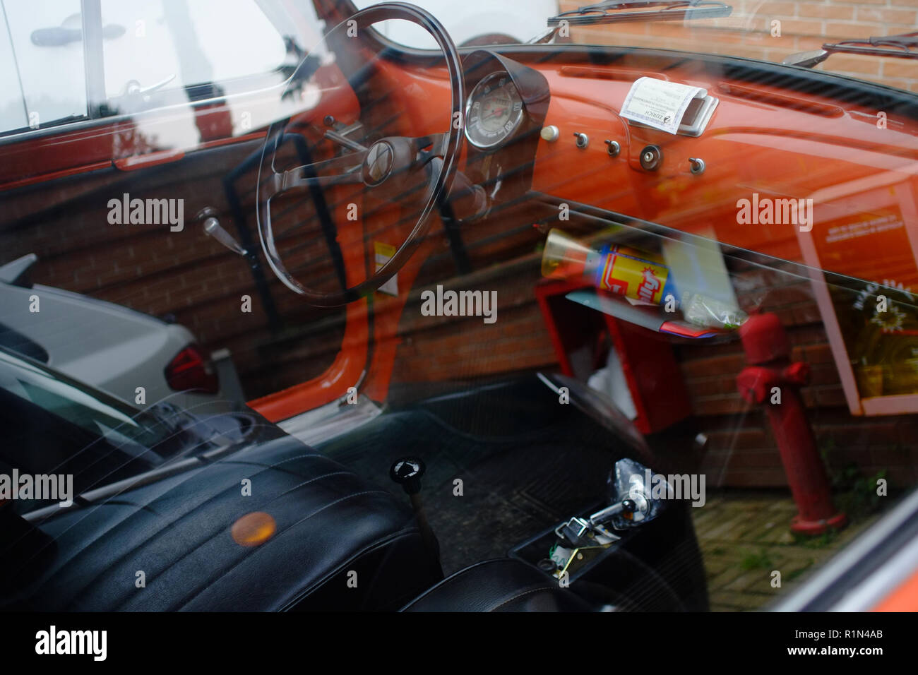 Interior view with leather accessories  Fiat 500 last