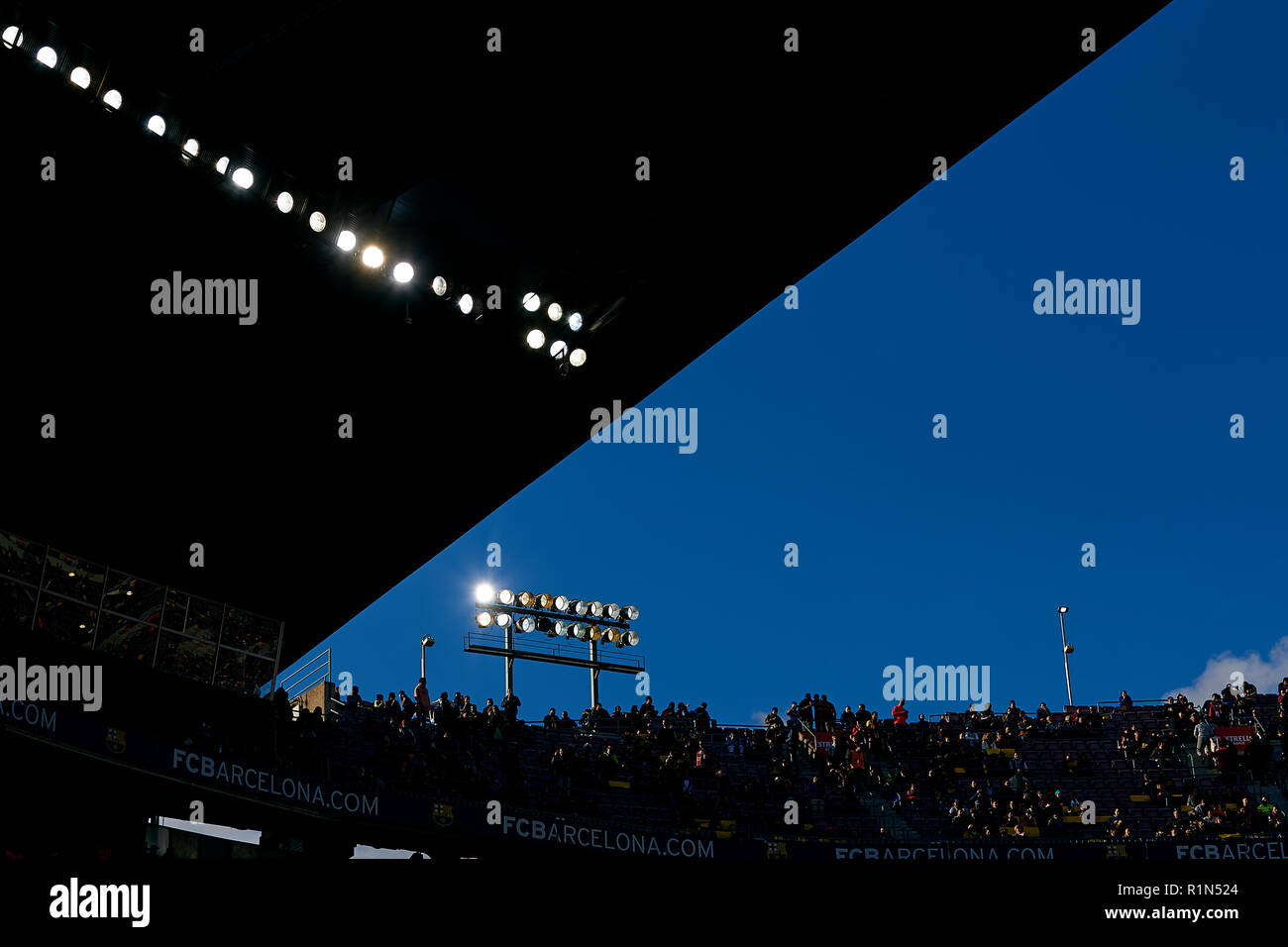 BARCELONA, SPAIN - OCTOBER 28: View of the stands during the La Liga match between FC Barcelona and Real Madrid CF at Camp Nou on October 28, 2018 in Barcelona, Spain. David Aliaga/MB Media - Stock Image