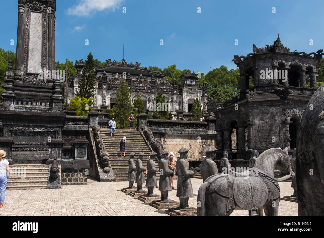 Tomb of Khai Dịnh officially Ung Mausoleum located in Chau Chu mountain near Hue  Vietnam Asia built for Emperor Khai Dịnh twelfth Emperor of  Nguyen  - Stock Image