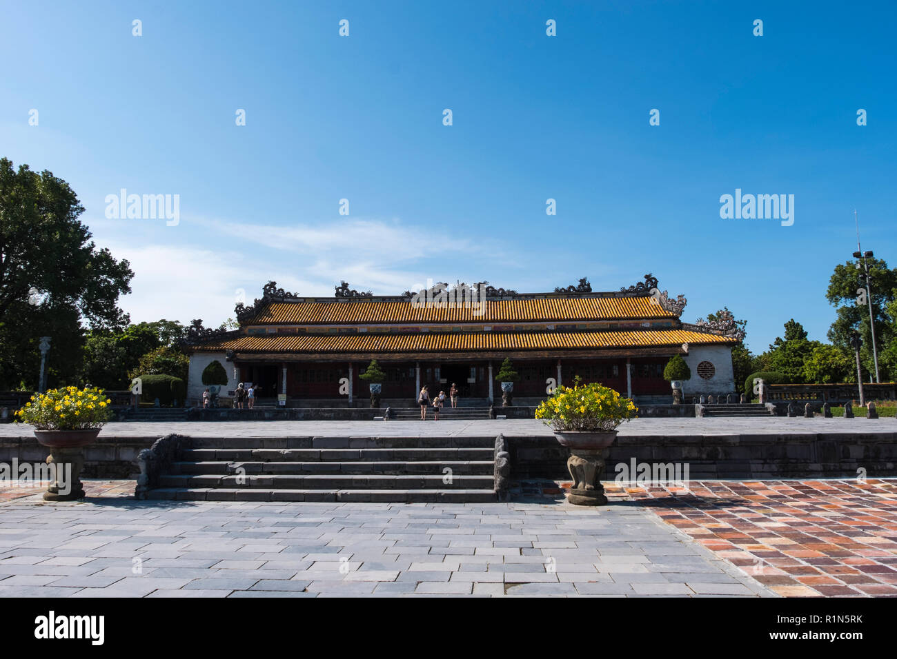Thai Hoa Palace Inside the walled citadel the Imperial City Hue Vietnam Asia  Hoang thanh UNESCO World Heritage Site Stock Photo