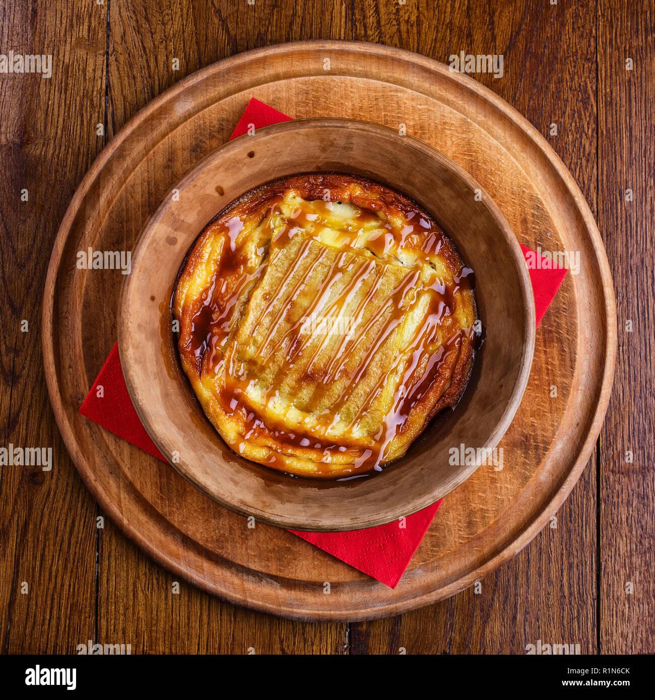 Casserole in a pot. Casserole with cabbage, macaroni, eggs - Stock Image