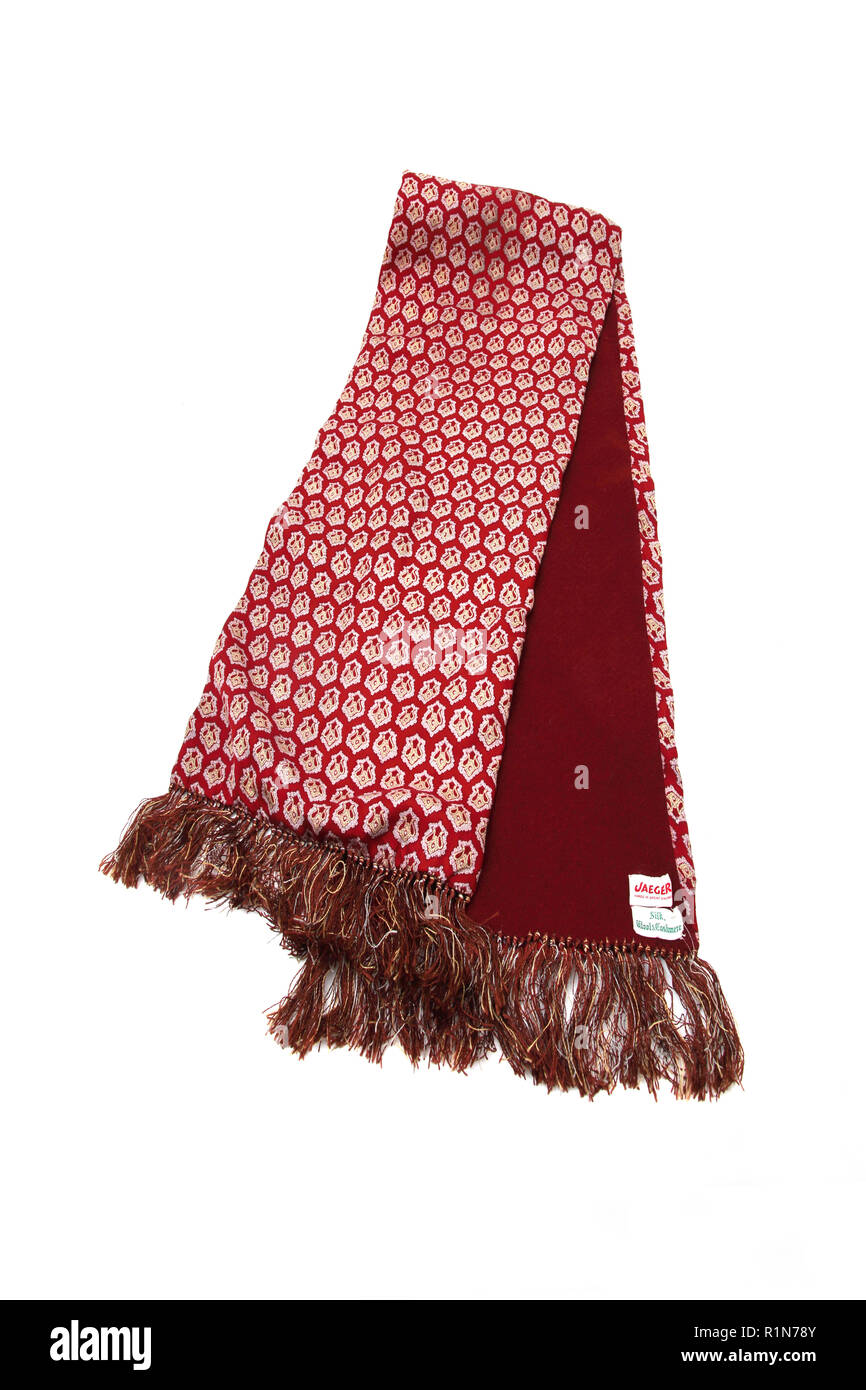 Silk, Wool and Cashmere Jaeger Scarf - Stock Image