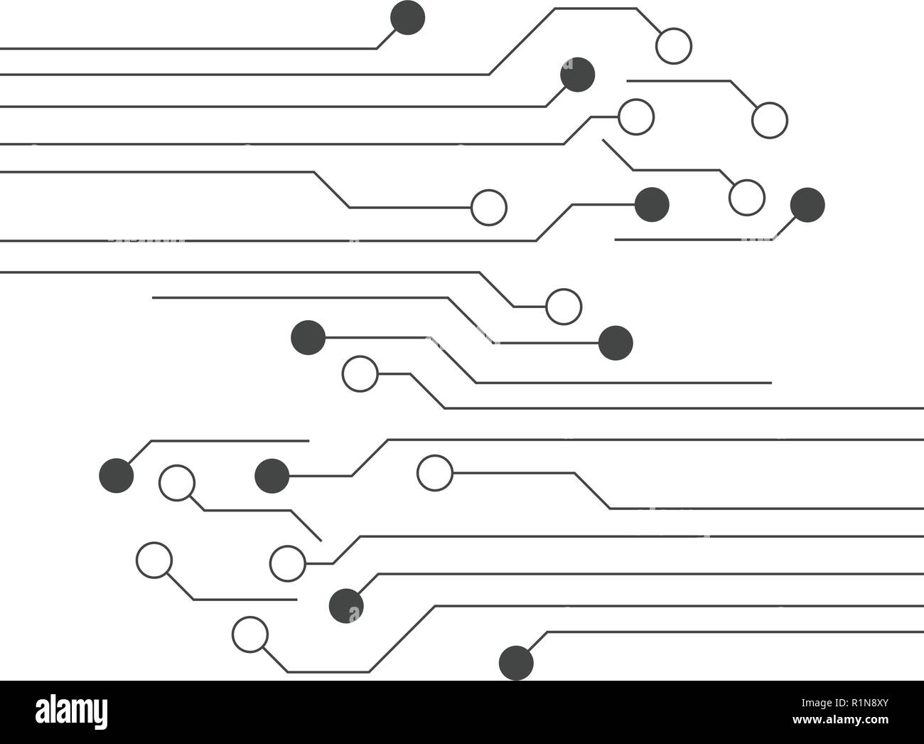 Electronic Circuit Vector Vectors Black And White Stock Photos Integrated Circuitelectronic Ic Buy Circuitpcb Graphic Design Template Image