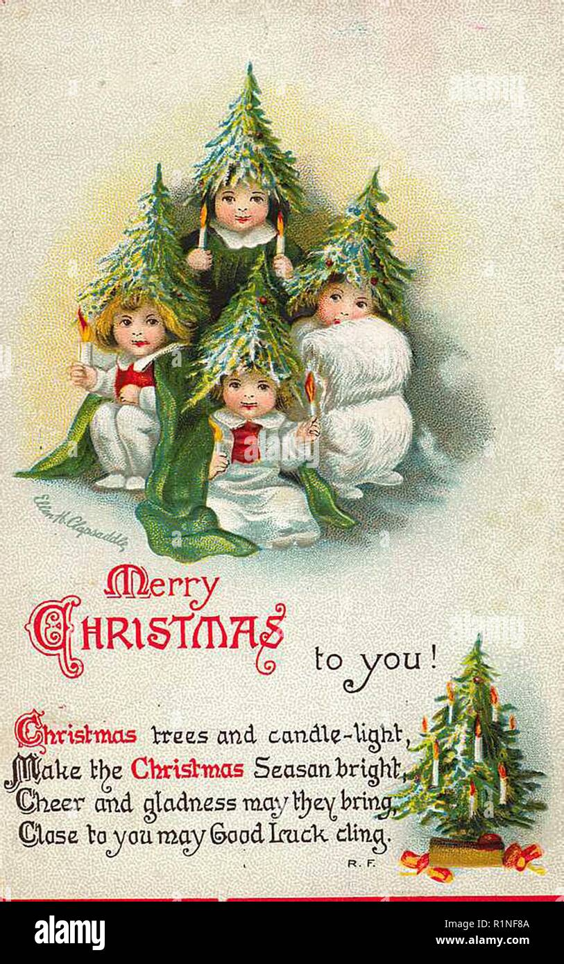 Vintage Christmas Card Design Stock Photo Alamy