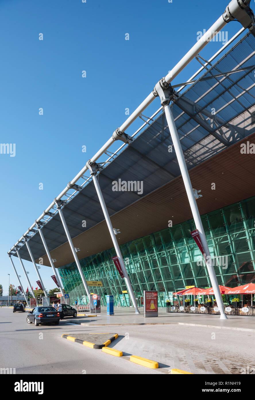 Exterior of Tirana Airport, Tirana, Albania - Stock Image