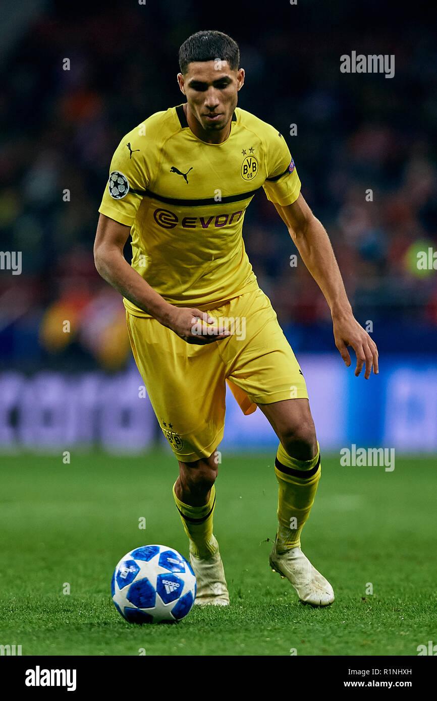 Achraf Hakimi Borussia Dortmund High Resolution Stock Photography ...