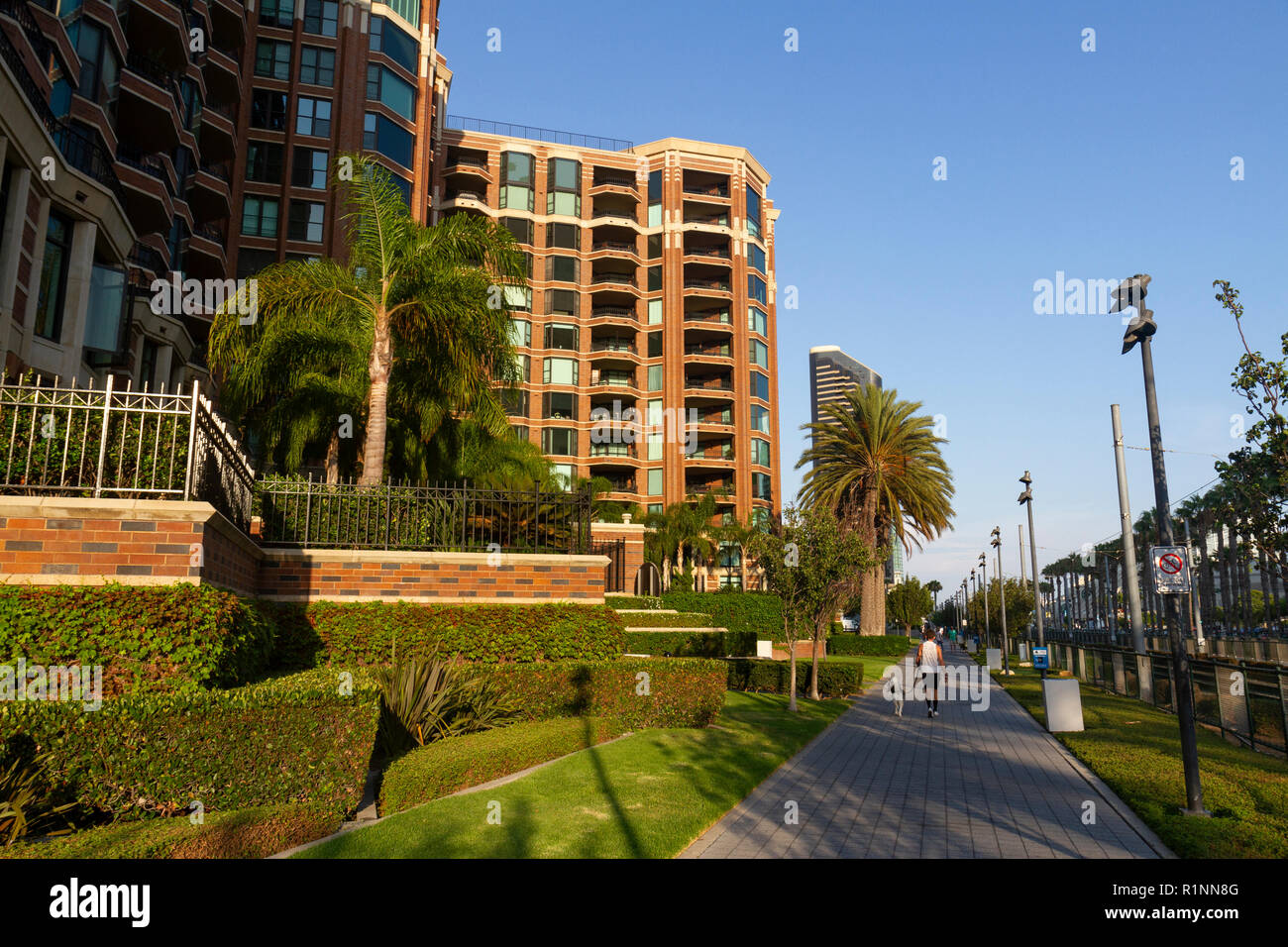 CityFront Terrace condominiums on Martin Luther King, Jr. Promenade  in downtown San Diego, California, United States. - Stock Image