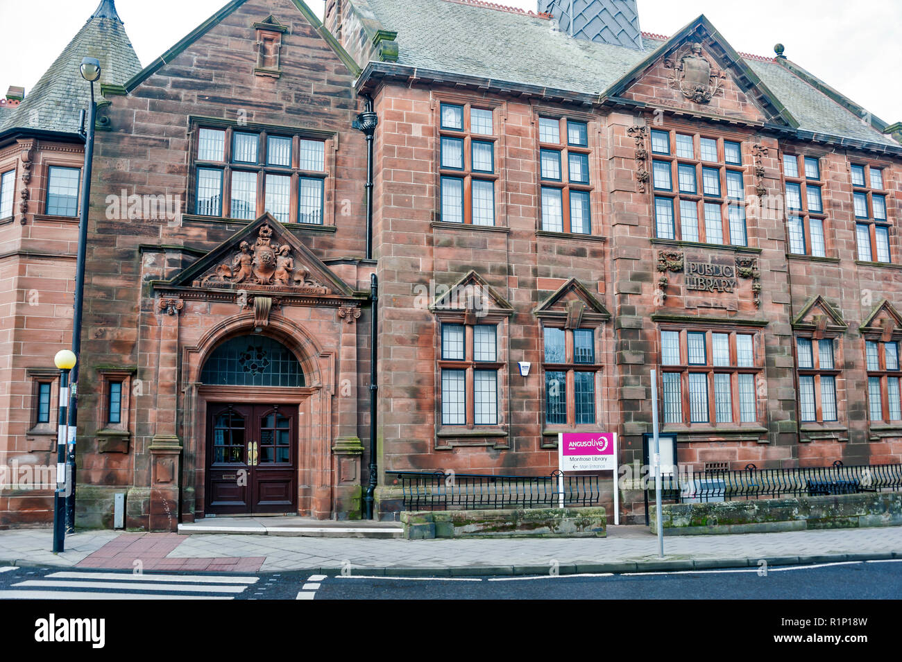Montrose Public Library, Angus, Scotland, UK - Stock Image