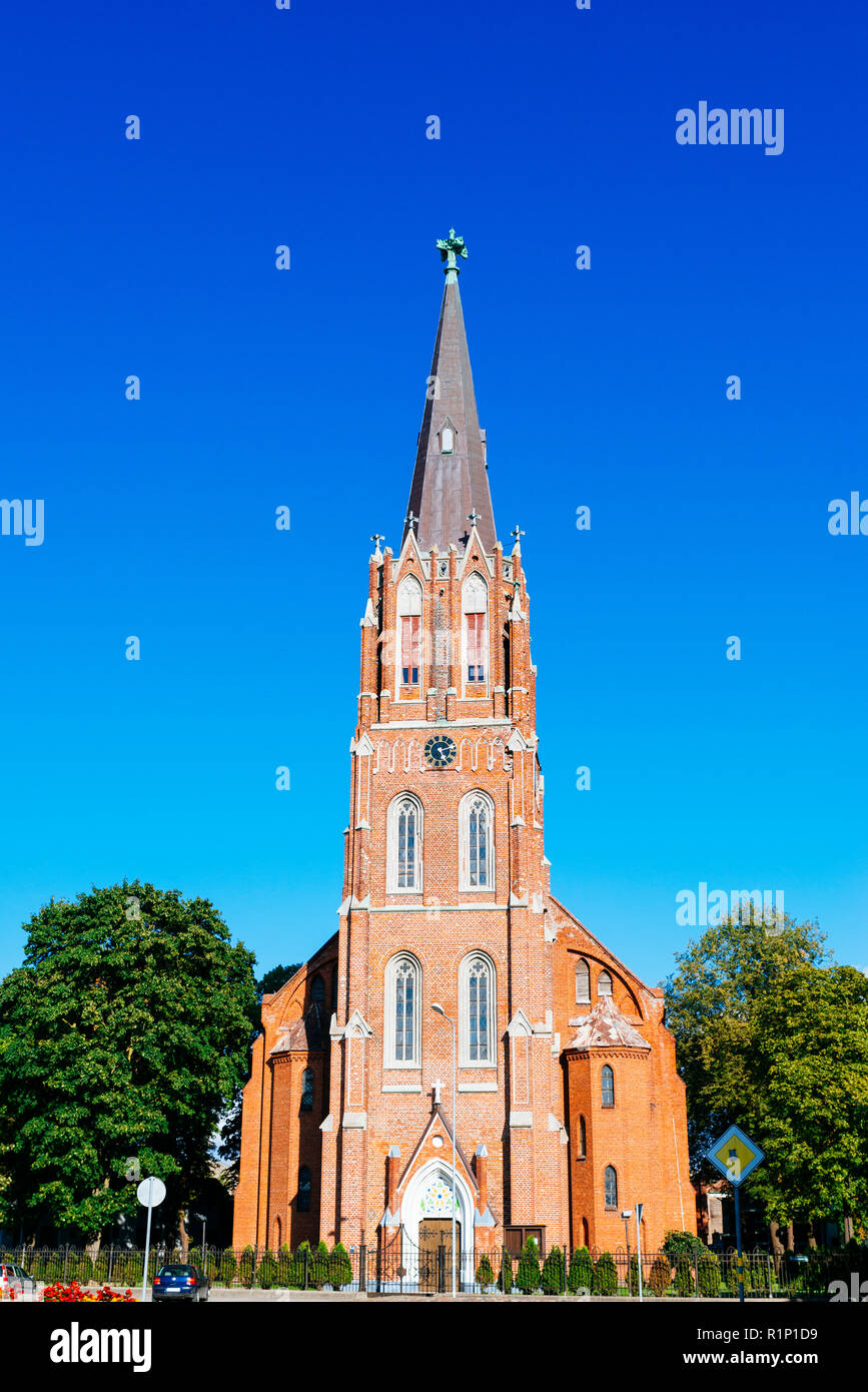 Lutheran Church of St. Ana in Liepaja. It's Liepaja's oldest church, built in XI century. At first it was wooden, lately few times reconstructed. Liep - Stock Image