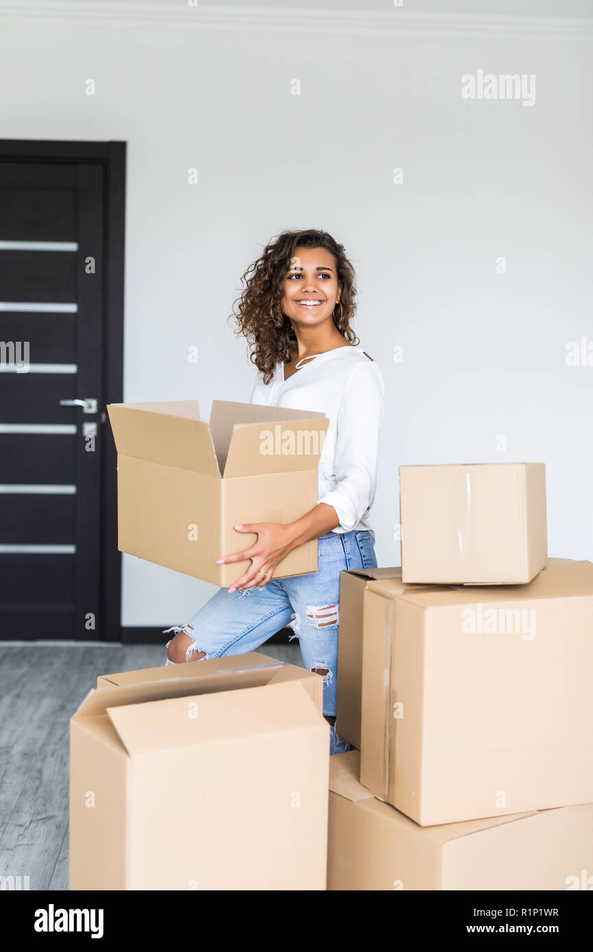 Woman Moving Furniture Stock Photos Amp Woman Moving