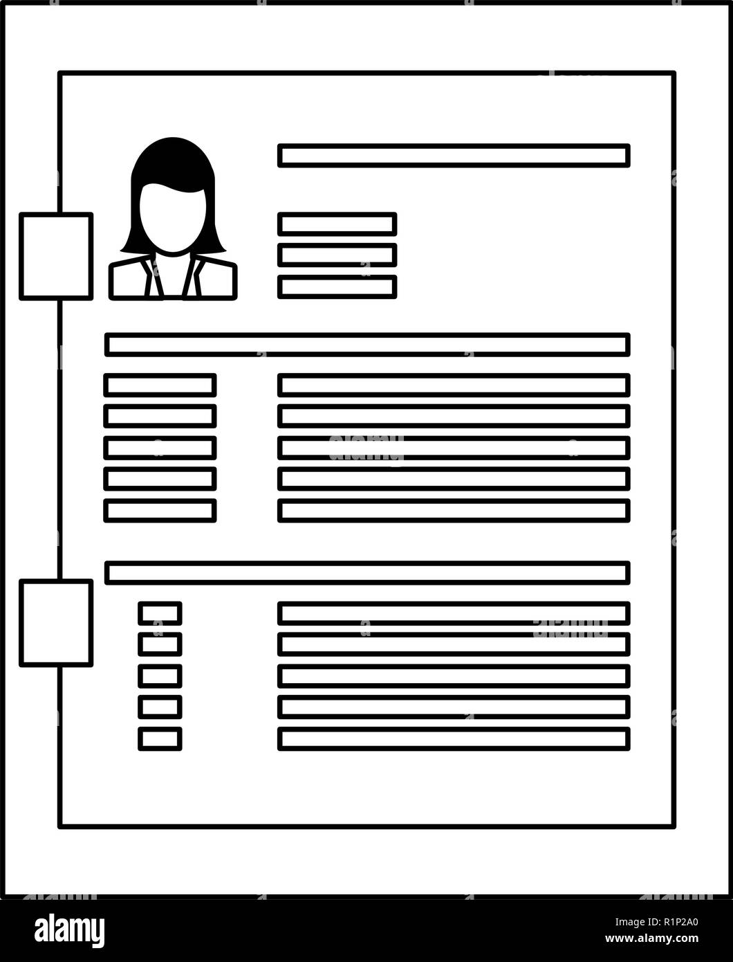 Worker Curriculum Vitae On Clipboard Vector Illustration Graphic