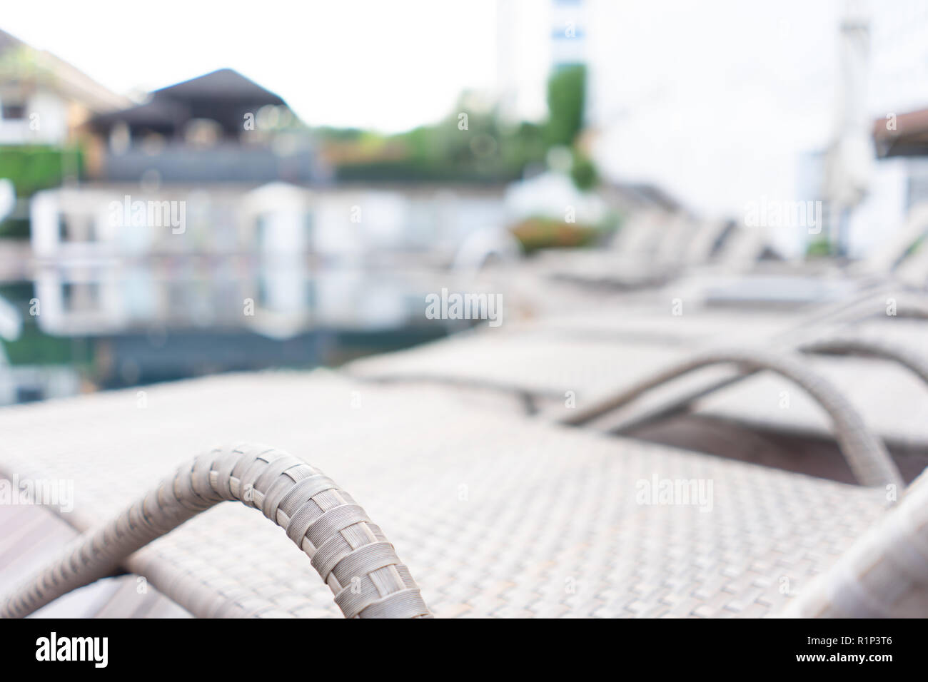 Swimming pool. Luxury hotel in Pattaya, Thailand. Summer beach vacation. Stock Photo