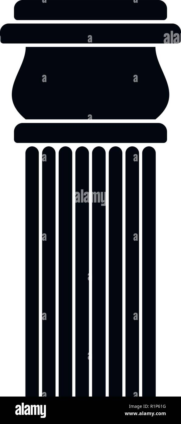 Stone column icon. Simple illustration of stone columnbaseball cap vector icon for web. - Stock Image