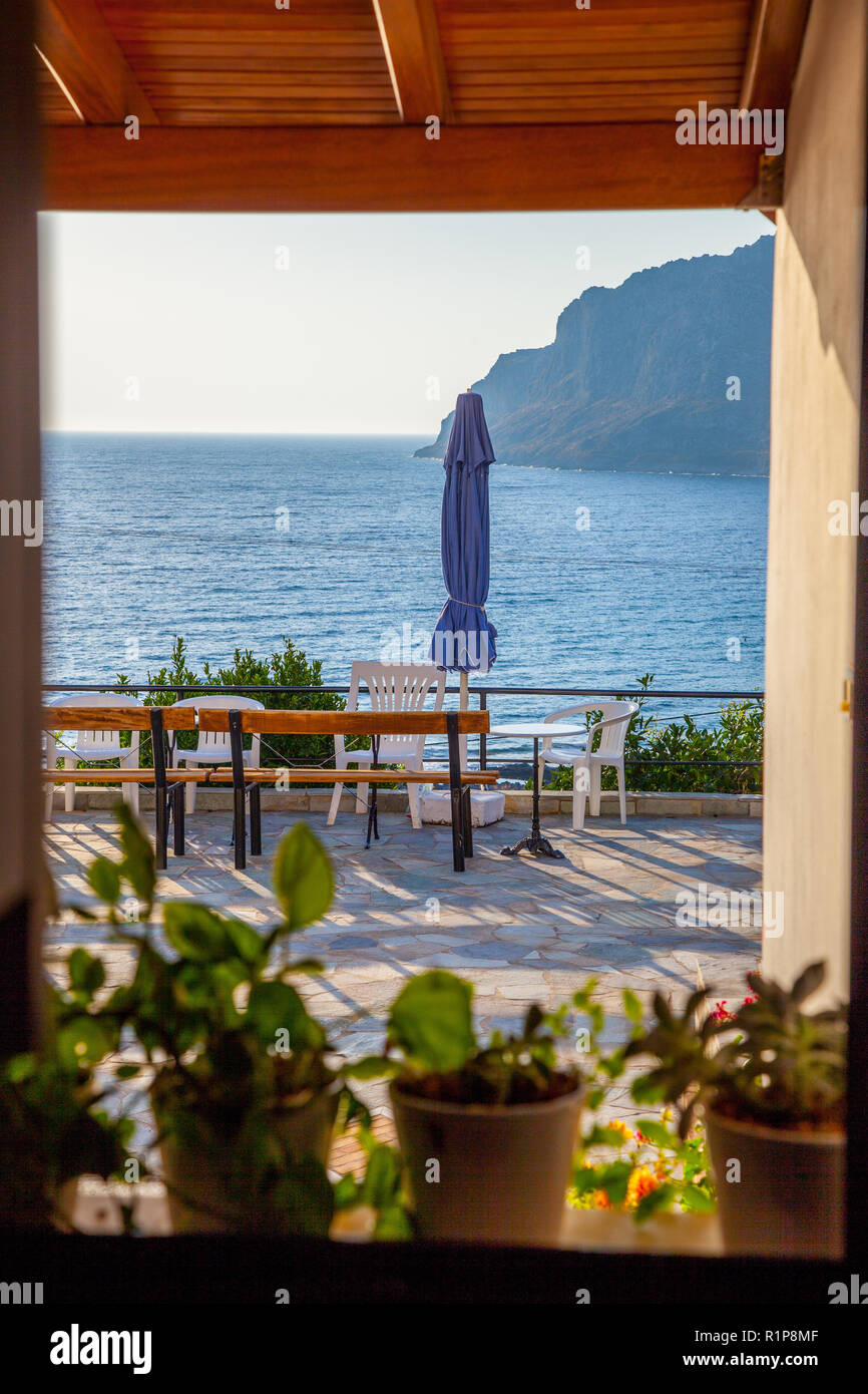 View from my window in Monemvasia - Stock Image