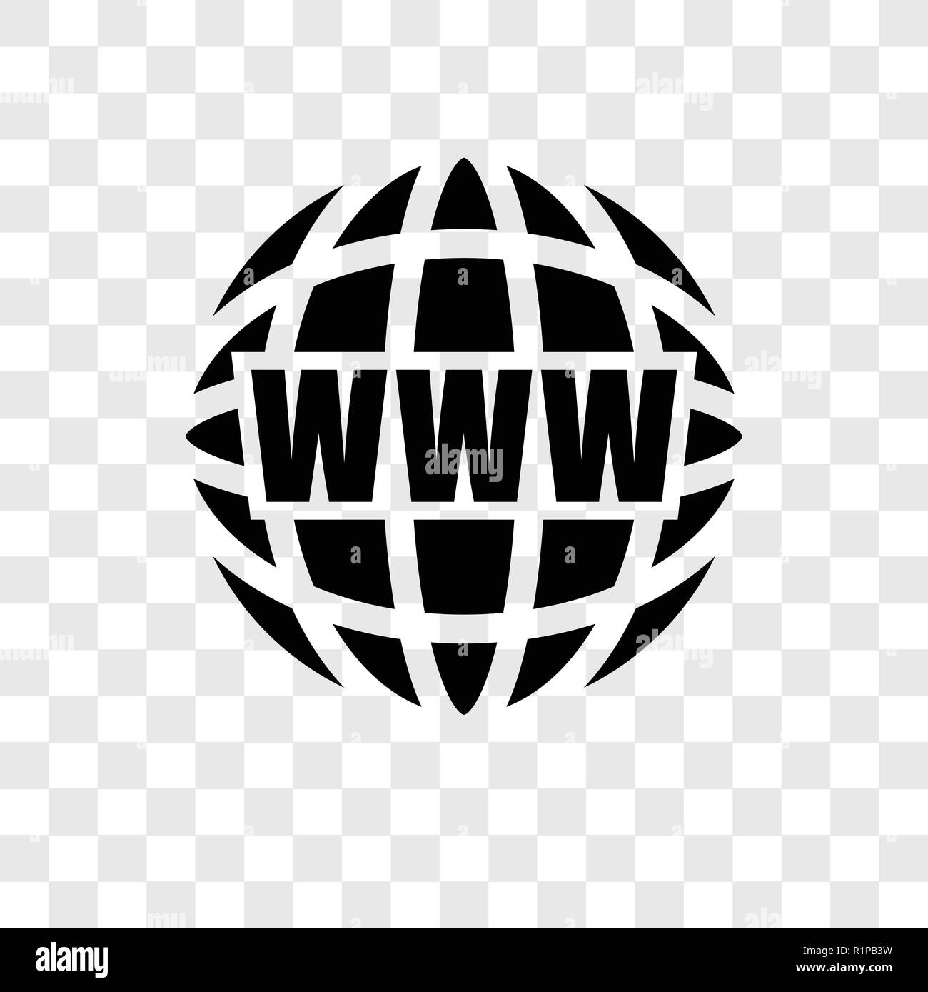 Web Vector Icon Isolated On Transparent Background Web Transparency Logo Concept Stock Vector Image Art Alamy