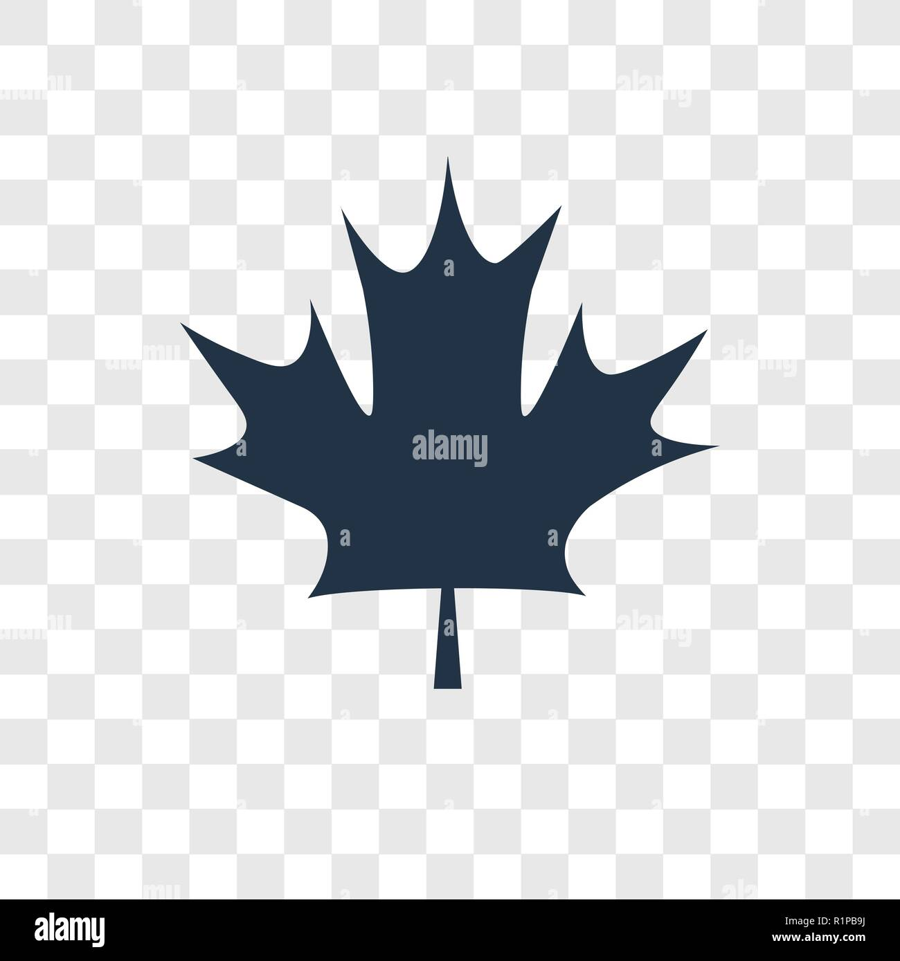 Maple Leaf Vector Icon Isolated On Transparent Background