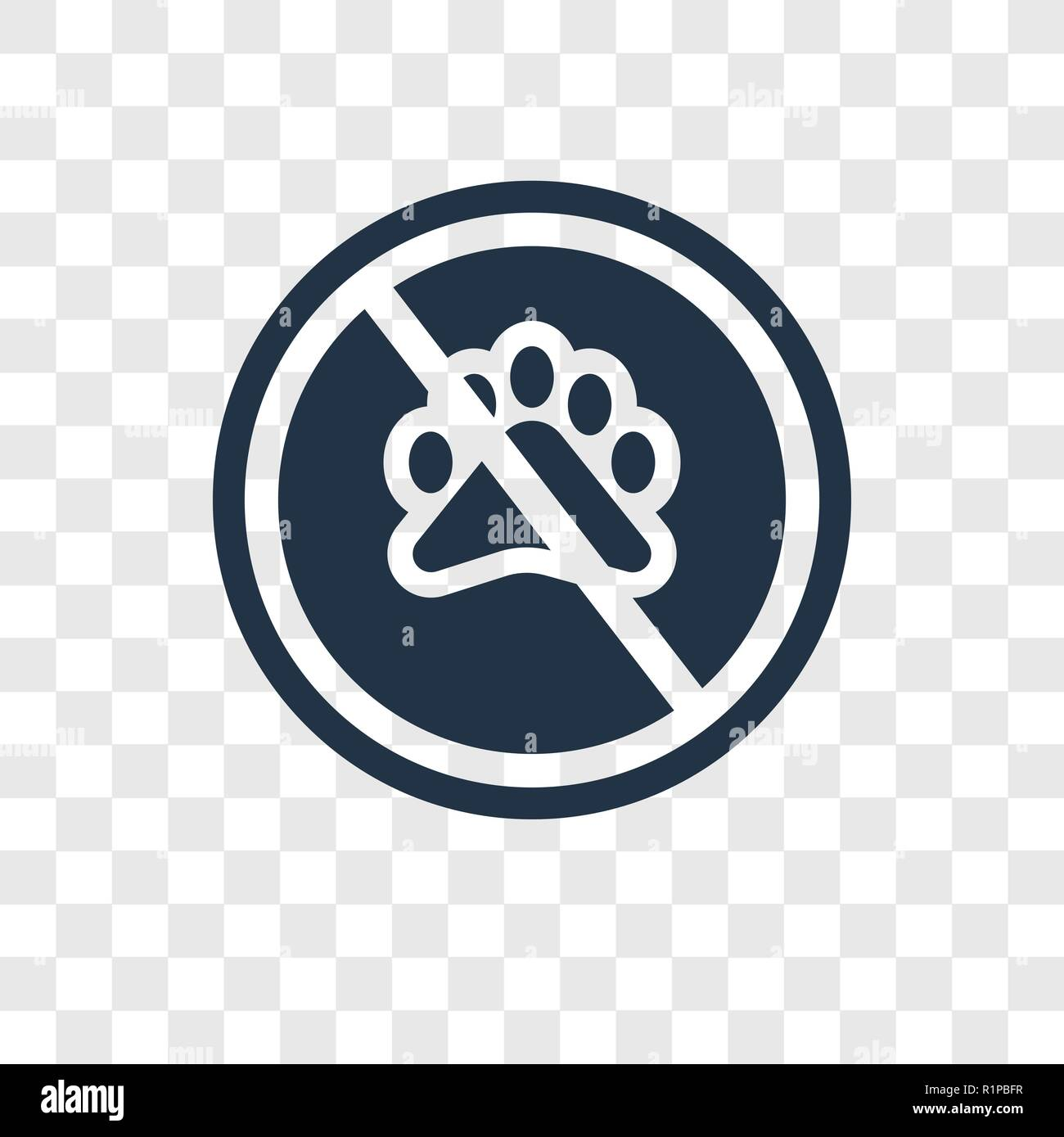 No animals vector icon isolated on transparent background, No animals transparency logo concept Stock Vector