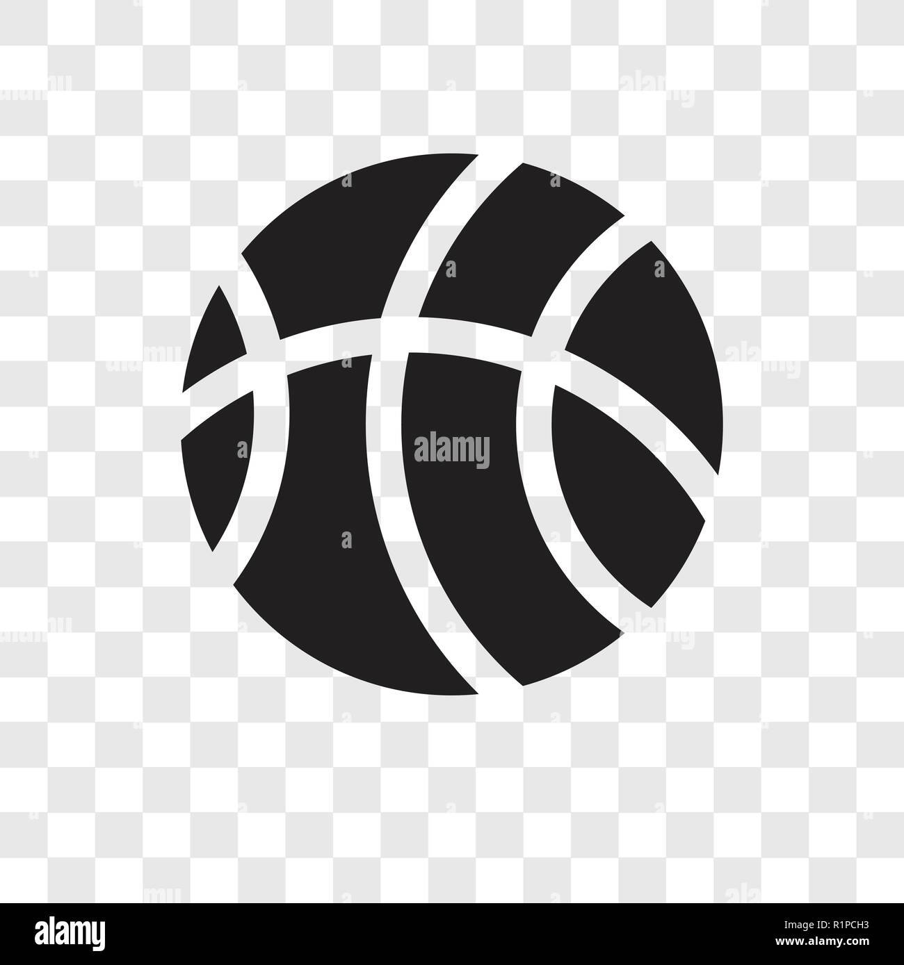 Basketball Vector Icon Isolated On Transparent Background