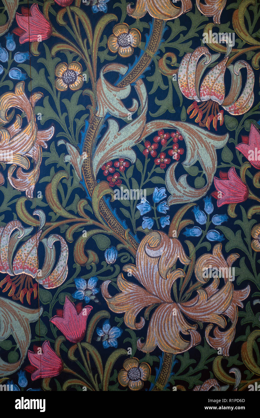 Victorian Style Floral Dark Wallpaper Stock Photo 224842757 Alamy