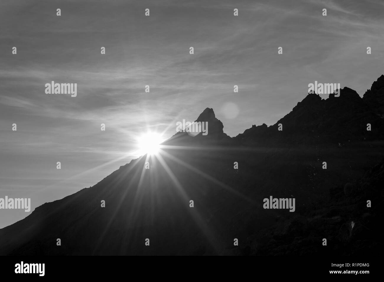 Mt Ruapehu, New Zealand. Morning sunshine - Stock Image